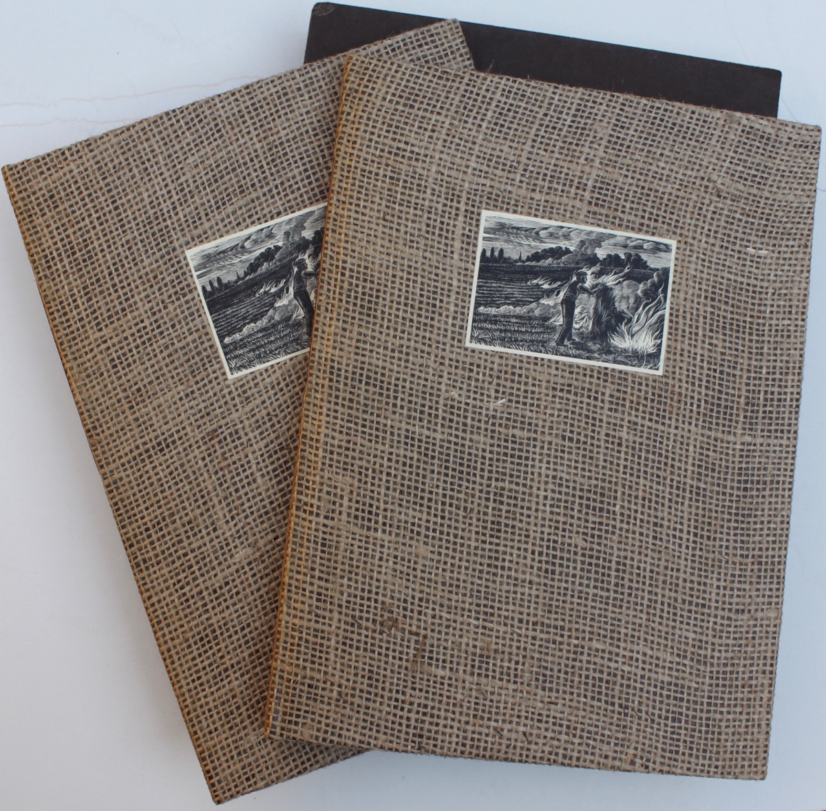 Image for Stubble Burning. Poems. With five wood-engravings by Howard Phipps.