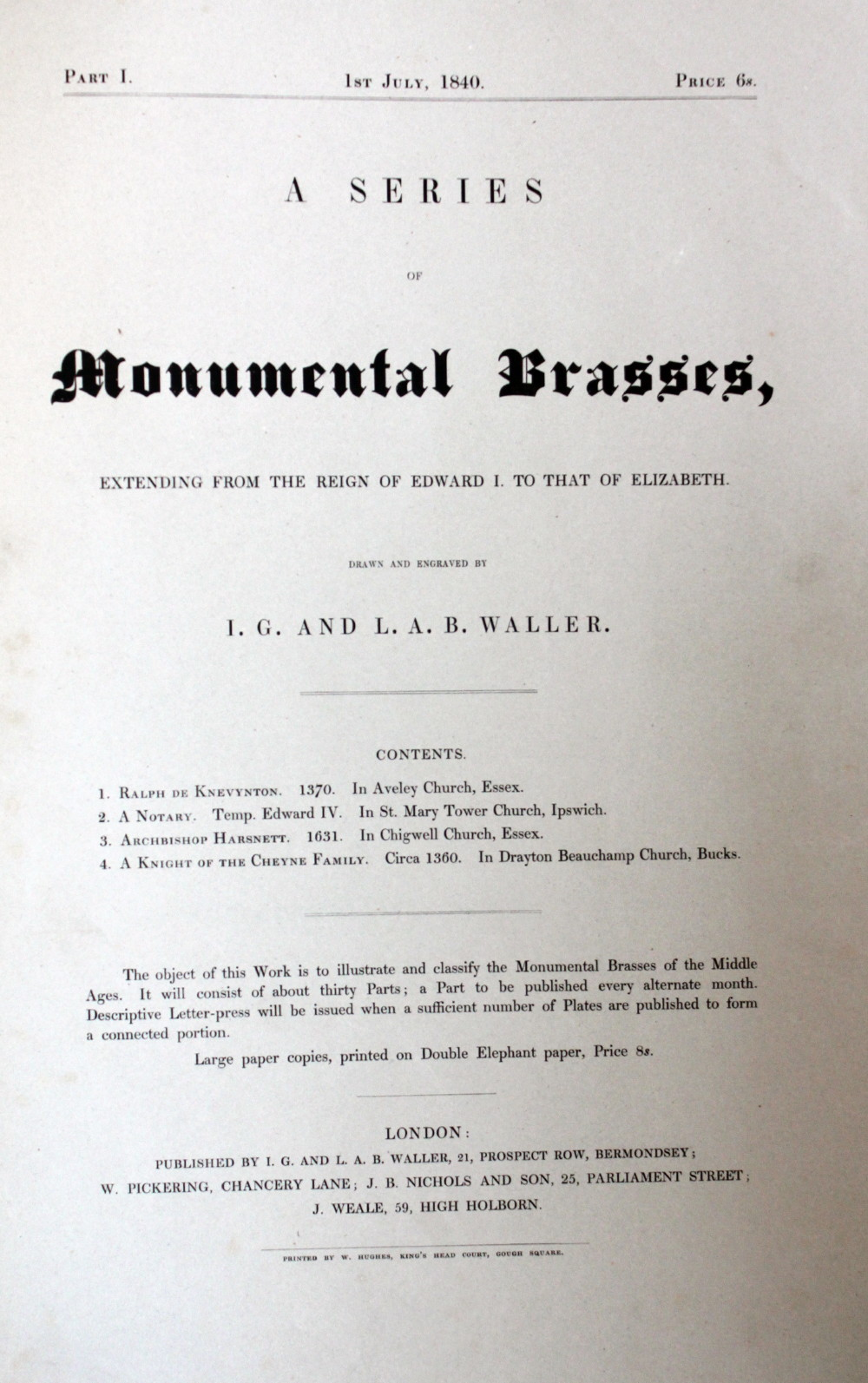 Image for A Series of Monumental Brasses From the Thirteenth to the Sixteenth Centuries.