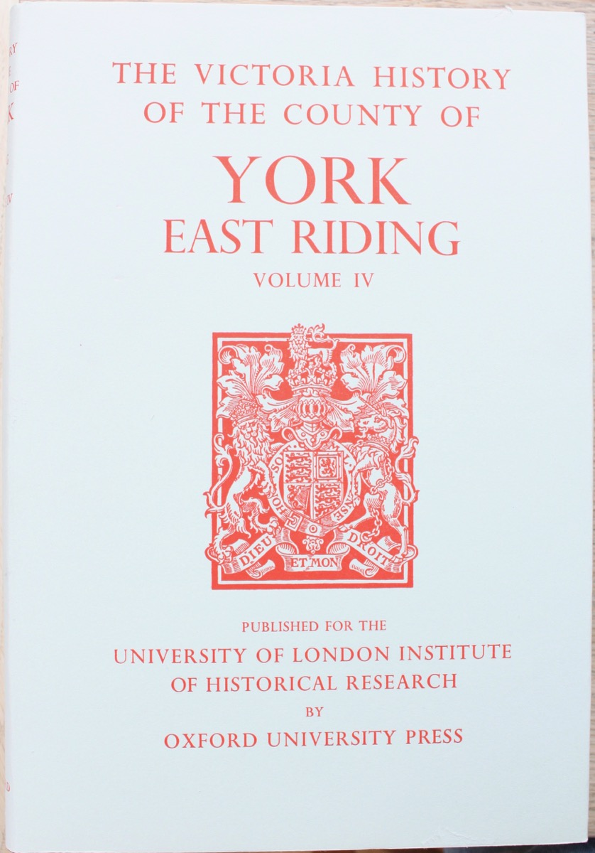 Image for A History of the County of York: East Riding Volume IV, edited by K.J. Allison.