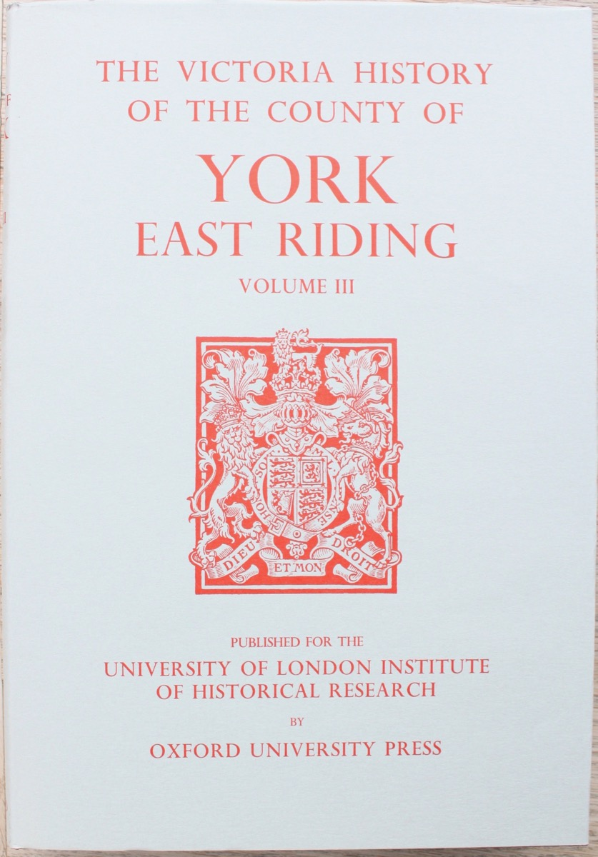 Image for A History of the County of York: East Riding Volume III, edited by K.J. Allison.