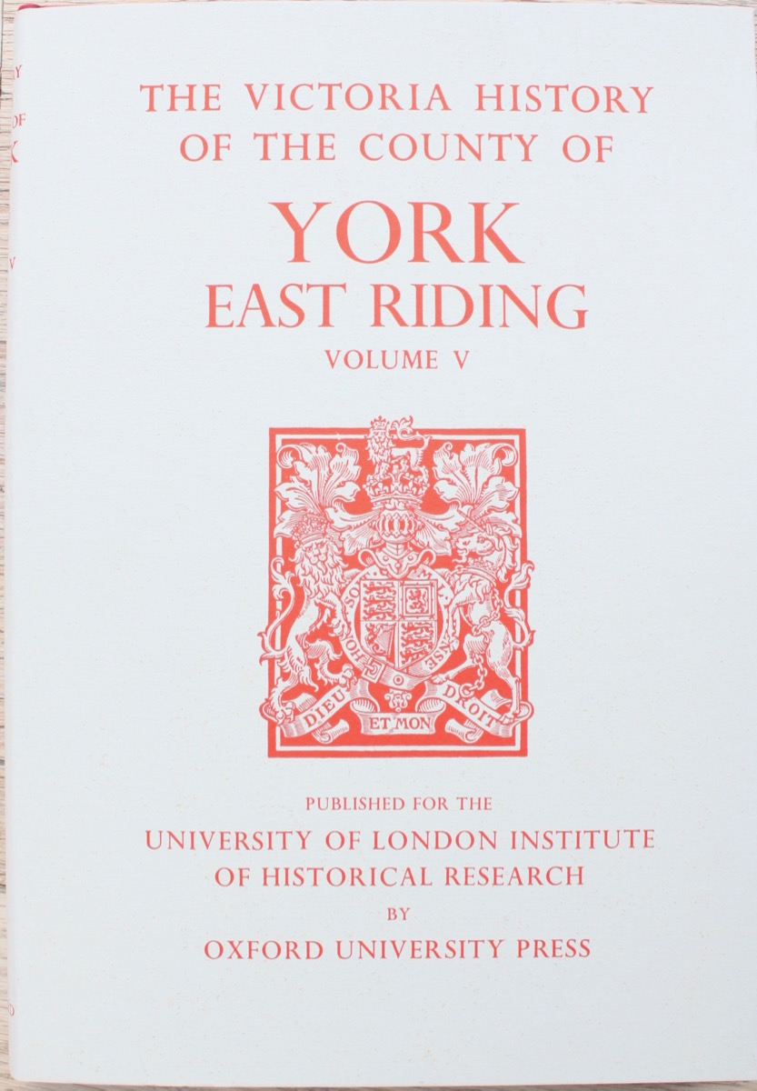 Image for A History of the County of York: East Riding Volume V, edited by K.J. Allison.