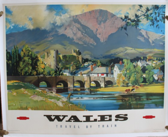 Image for Wales; Travel by Train. ORIGINAL FULL SIZE BRITISH RAILWAYS POSTER.