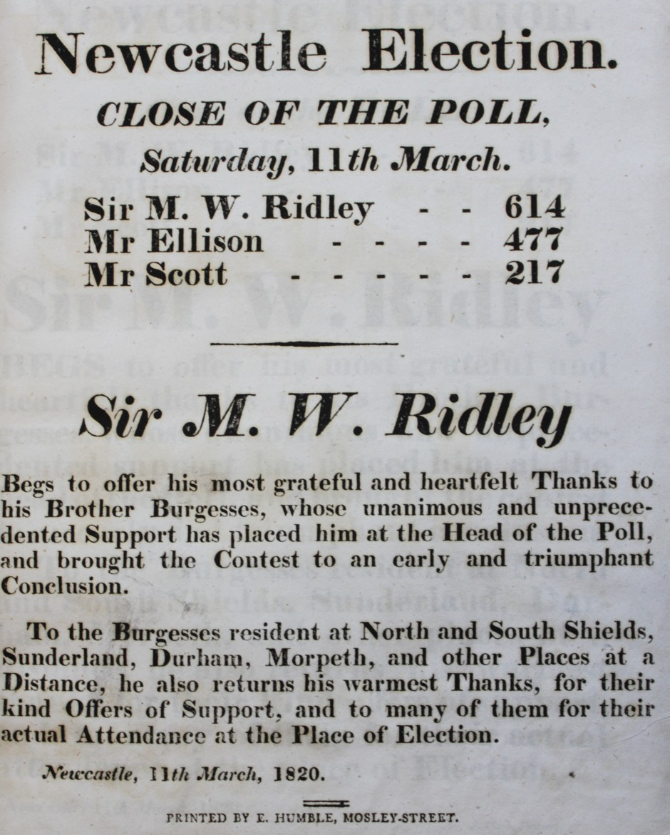 Image for Addresses and Squibs in the Contested Election for Members in Parliament, 1820.