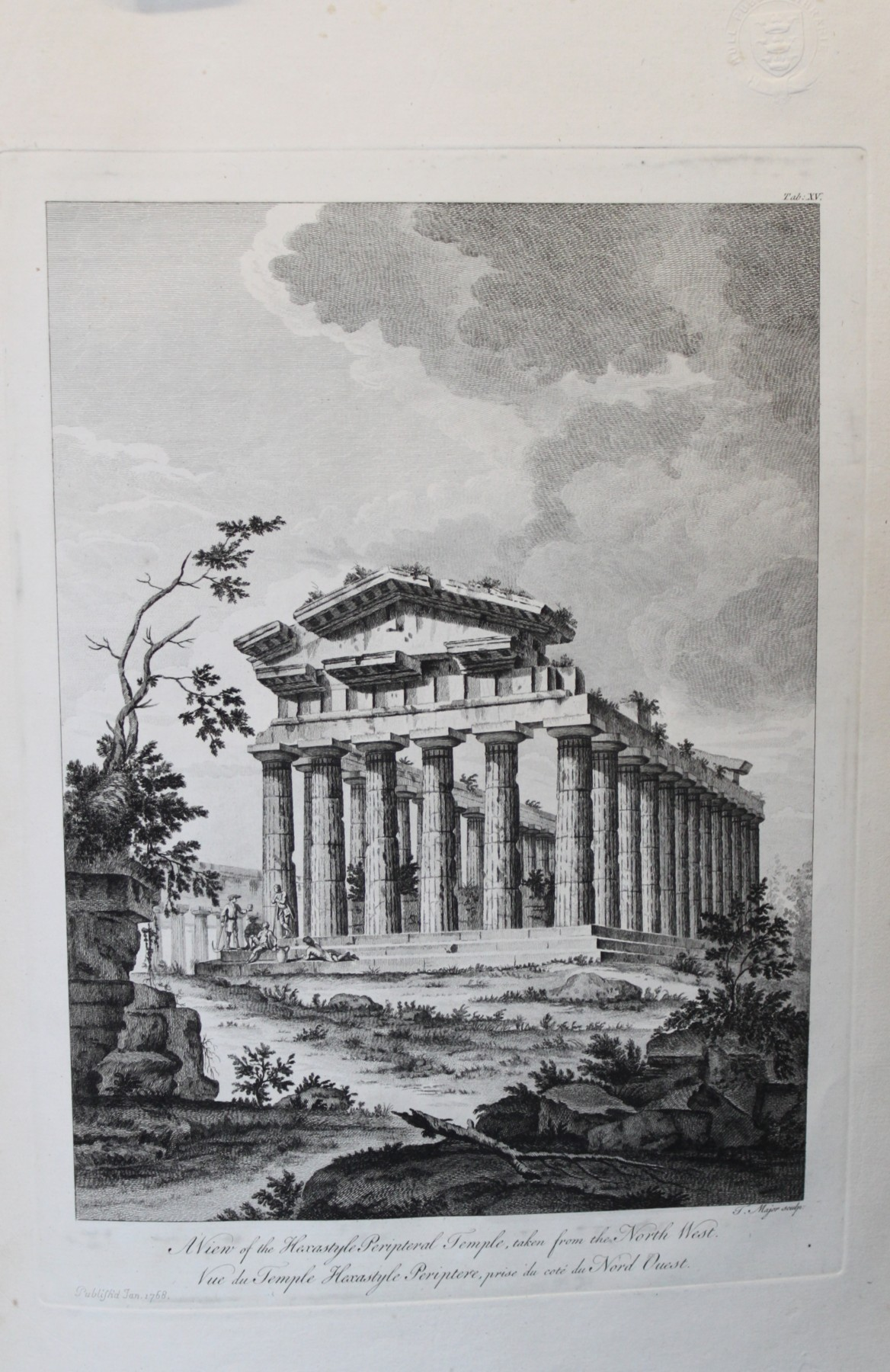 Image for The Ruins of Paestum, Otherwise Posidonia in Magna Graecia.