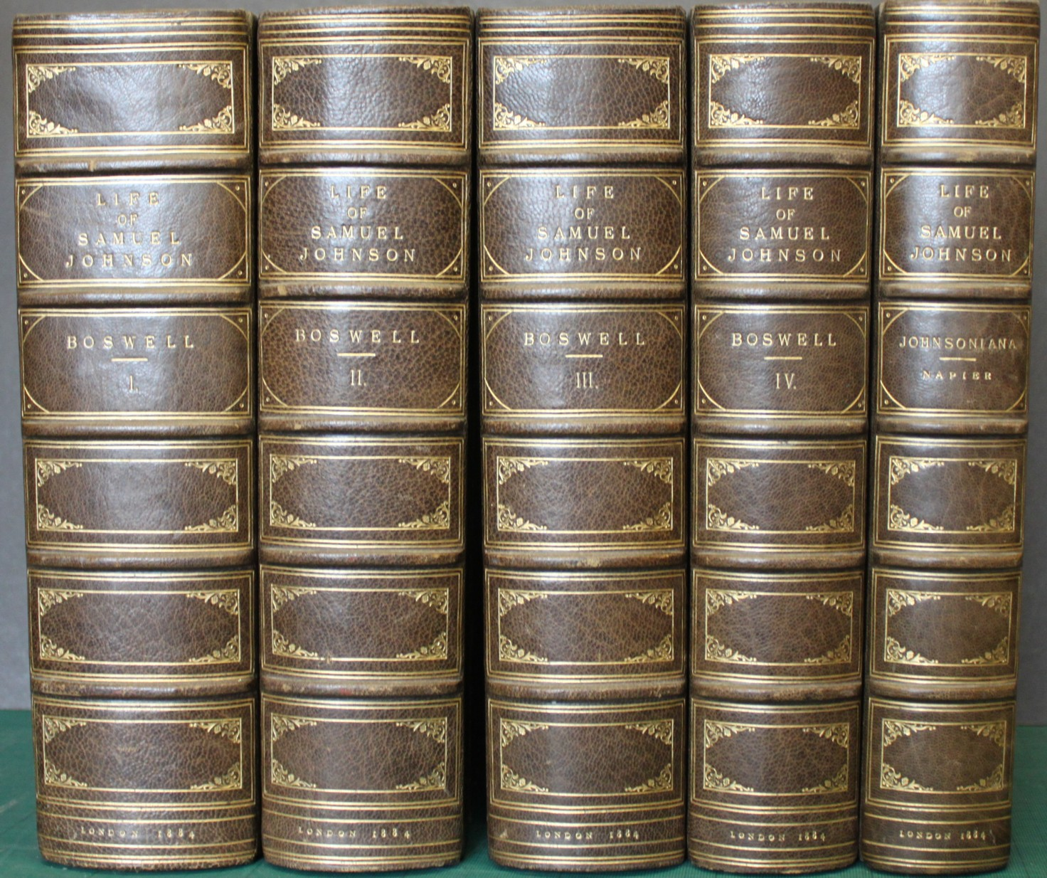 Image for The Life of Samuel Johnson, LL.D. Together With The Journal of a Tour to the Hebrides. New Editions with Notes and Appendices by Alexander Napier. [4 volumes]  [WITH] Johnsoniana. Anecdotes of the Late Samuel Johnson LL.D. by Mrs Piozzi, Richard Cumberland, Bishop Percy and Others; Together With the Diary of Dr. Campbell and Extracts From That of Madame D'Arblay, Newly Collected and Edited by Robina Napier. [1 volume]