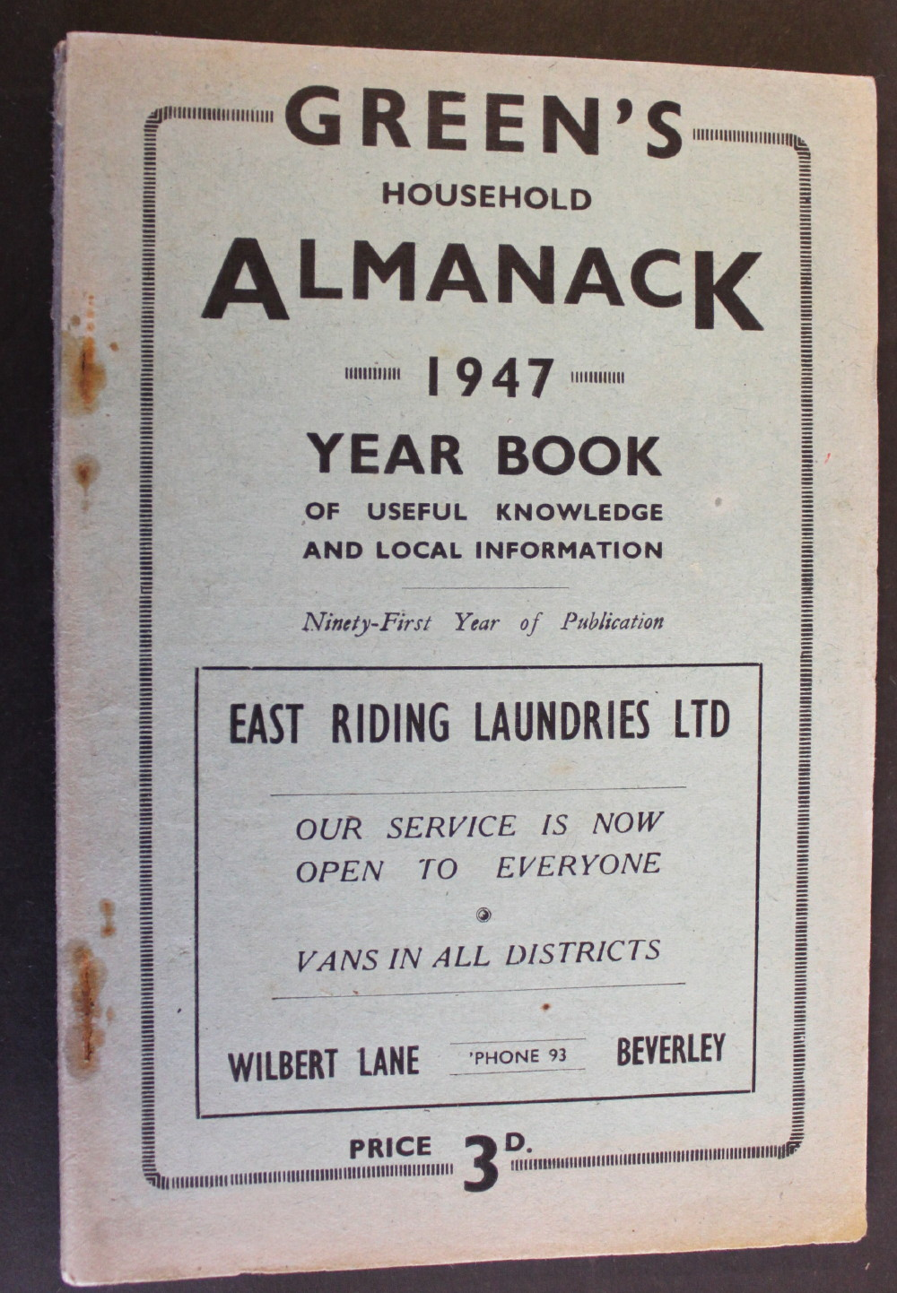 Image for Green's Household Almanack & Diary for 1947.