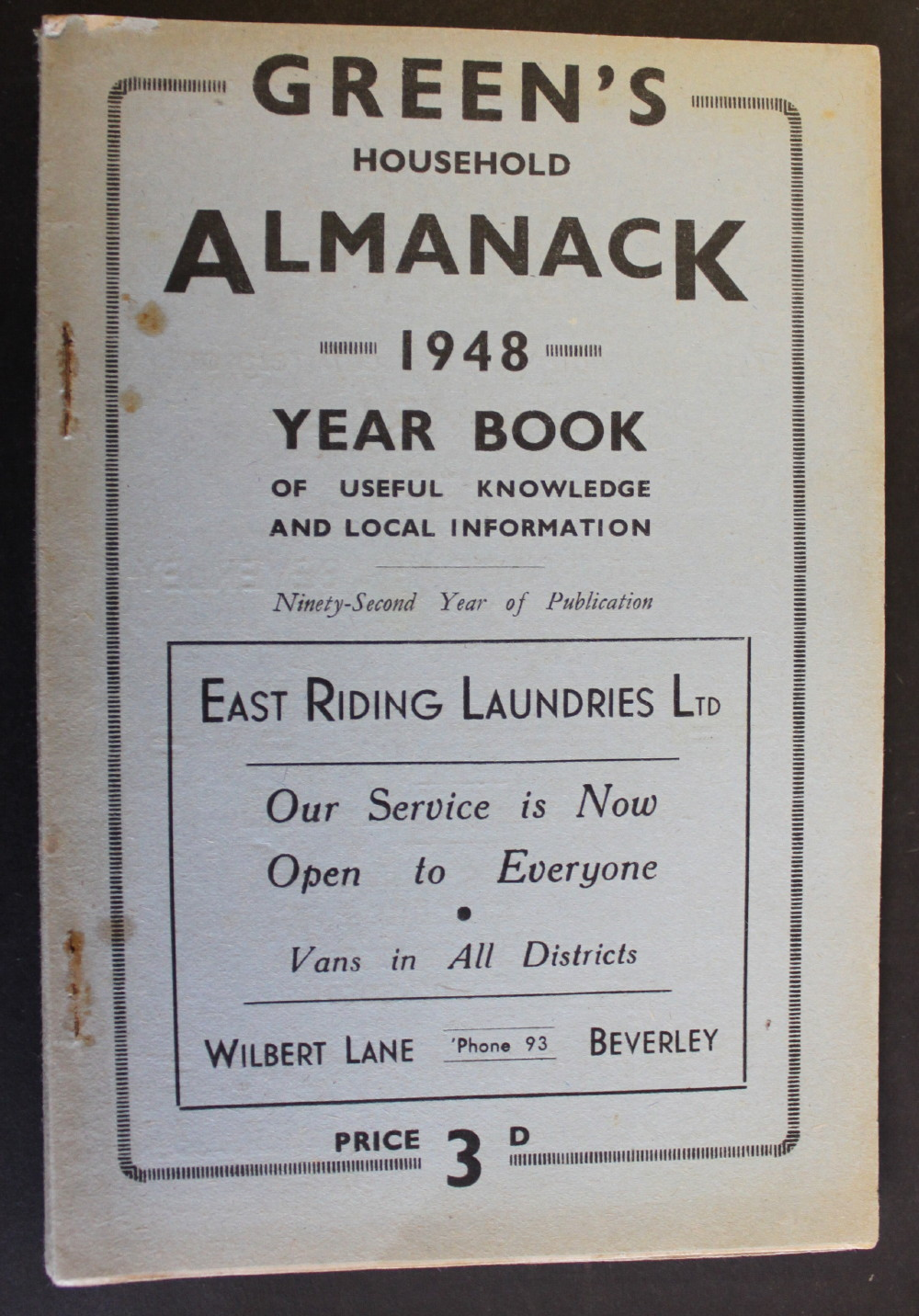 Image for Green's Household Almanack & Diary for 1948.