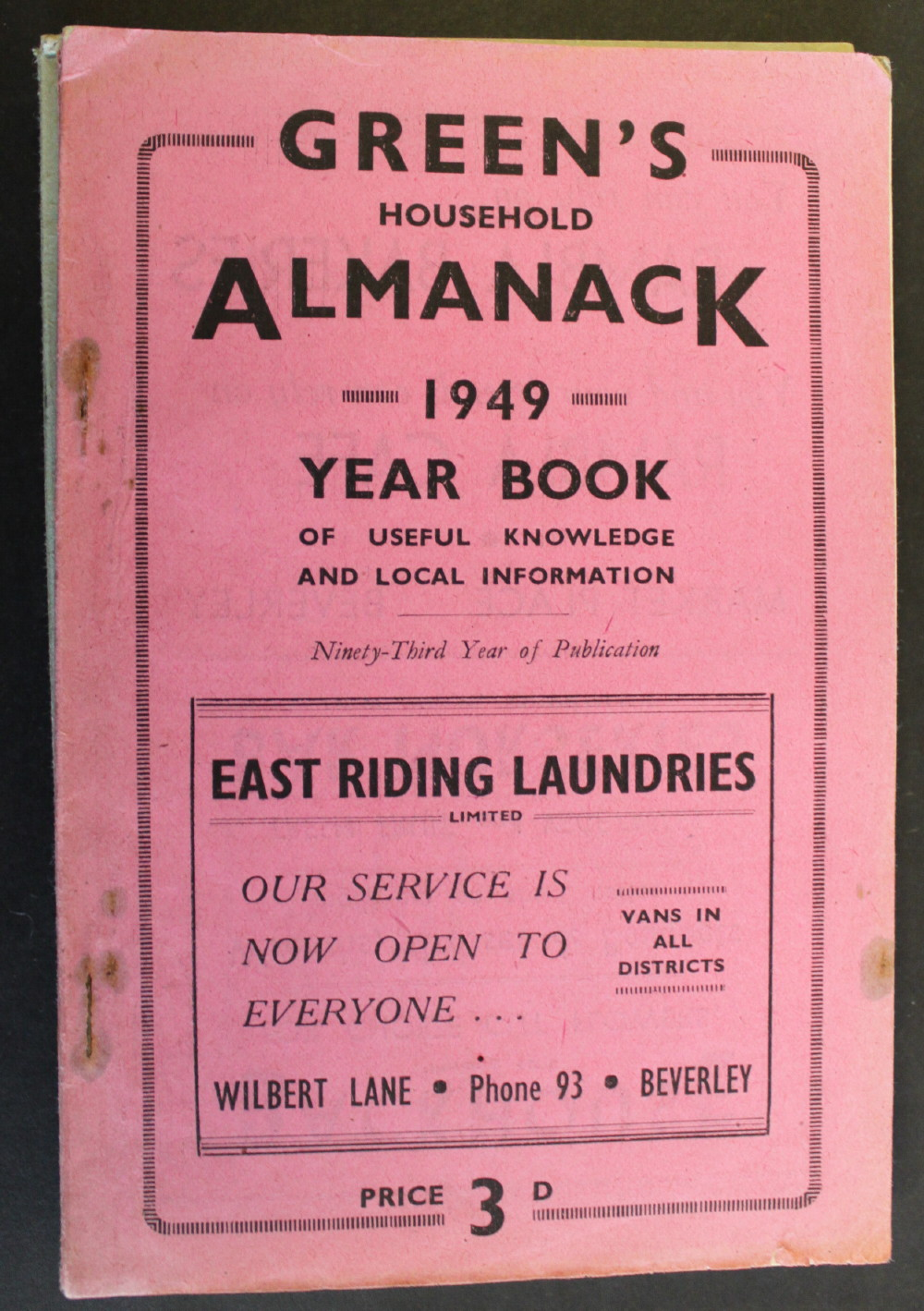 Image for Green's Household Almanack & Diary for 1949.