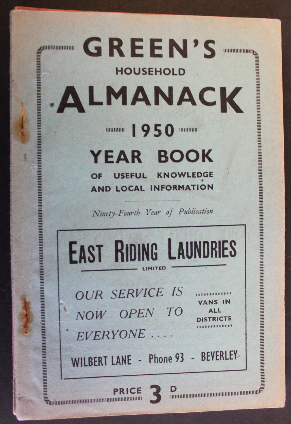 Image for Green's Household Almanack & Diary for 1950.