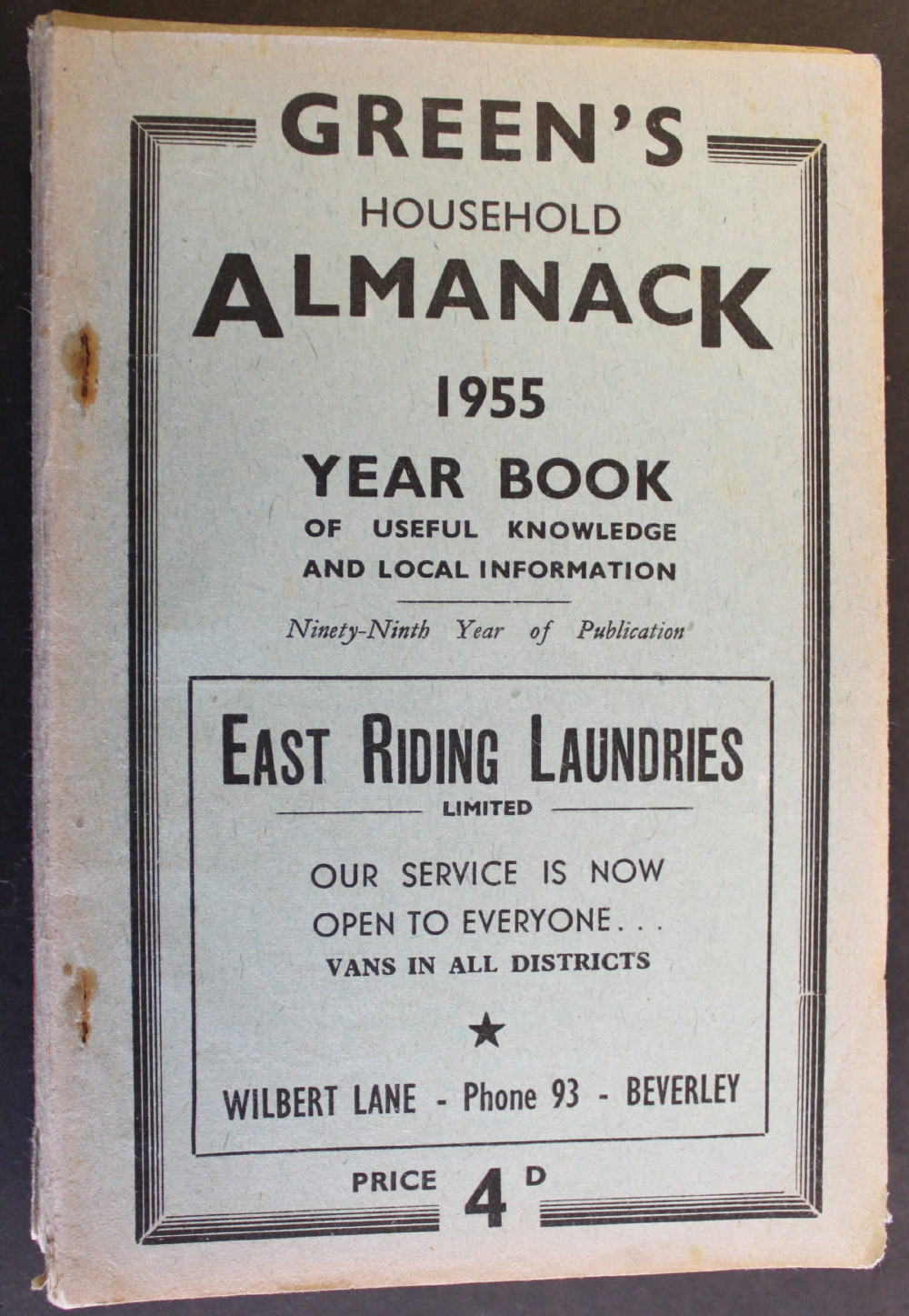 Image for Green's Household Almanack & Diary for 1955.