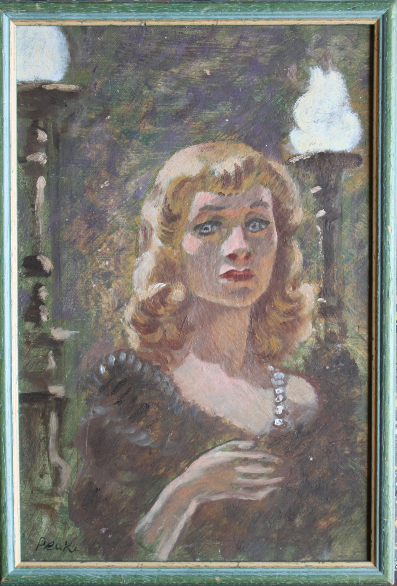 Image for Portrait of Vivien Leigh as Blanche Dubois in a Streetcar Named Desire. Original oil painting.