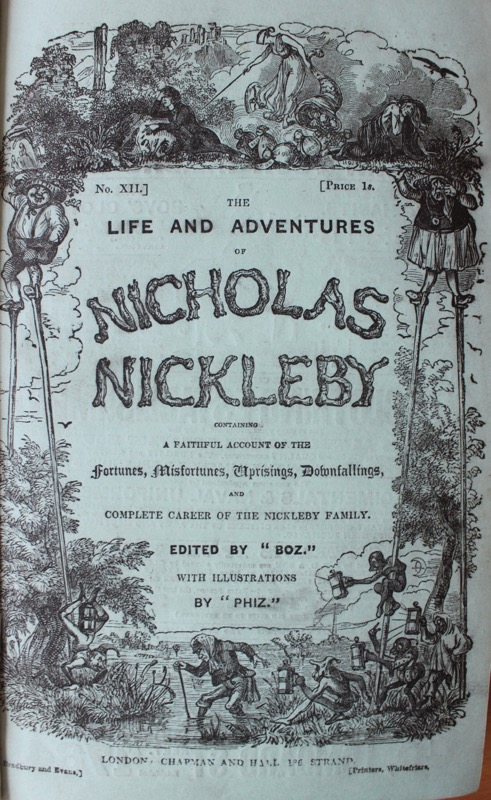 Image for The Life and Adventures of Nicholas Nickleby.