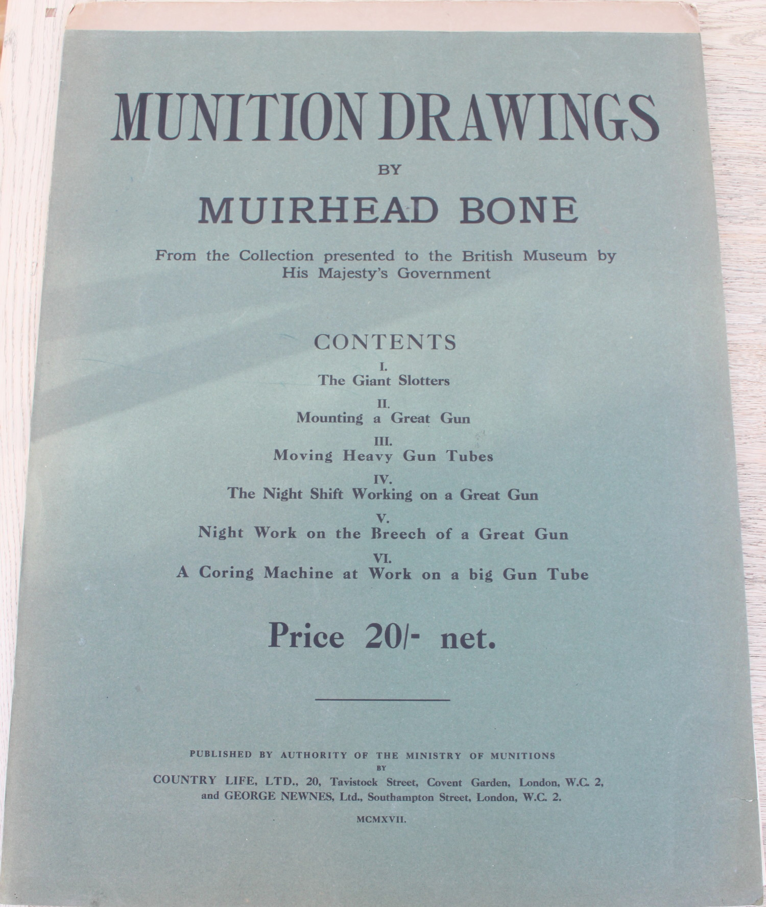 Image for Munition Drawings. From the Collection Presented to the British Museum by His Majesty's Government.