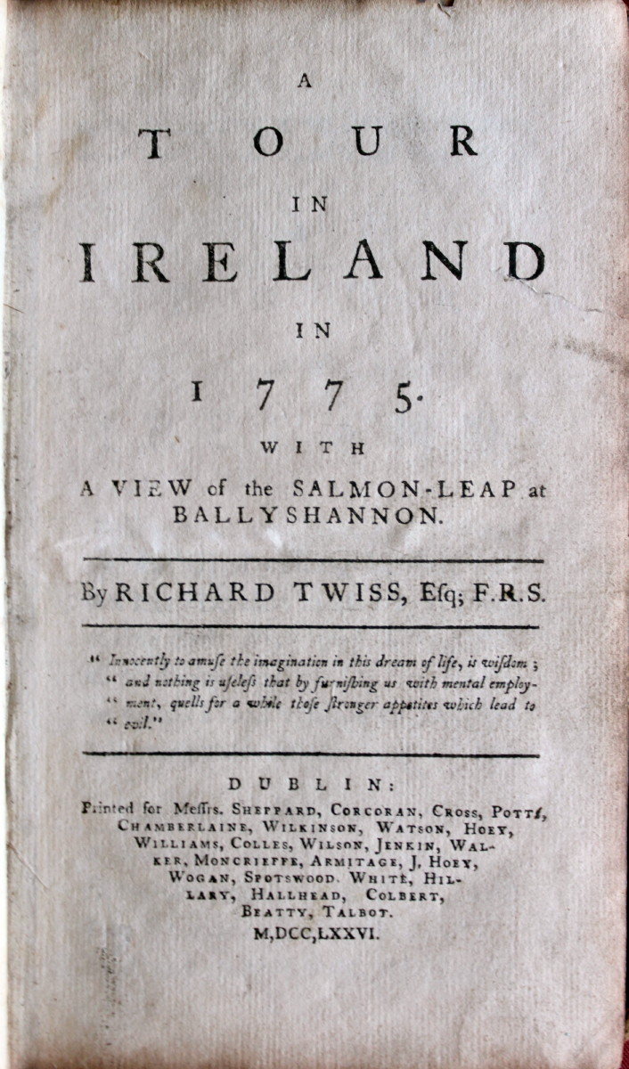 Image for A Tour in Ireland in 1775. With a View of the Salmon-Leap in Ballyshannon.
