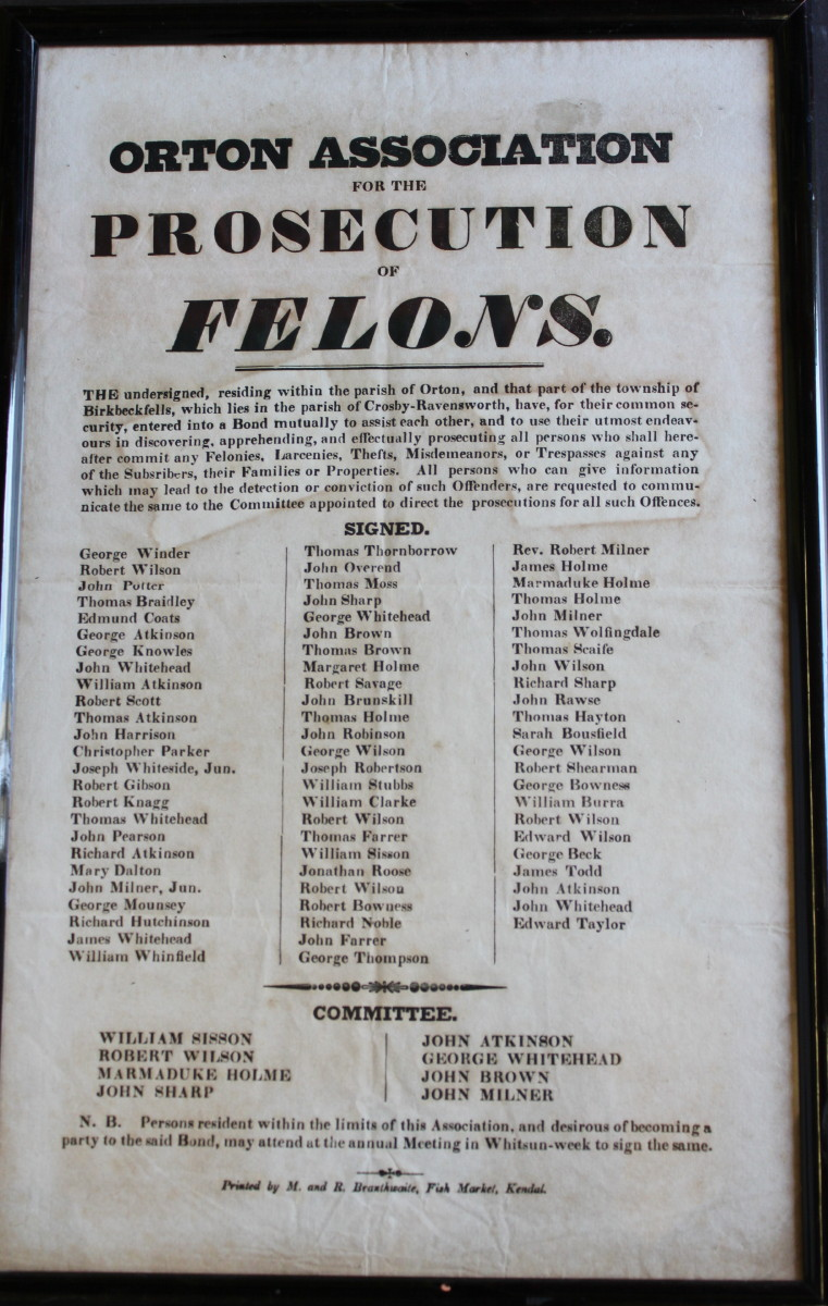 Image for Orton Association for the Prosecution of Felons... We the undersigned...
