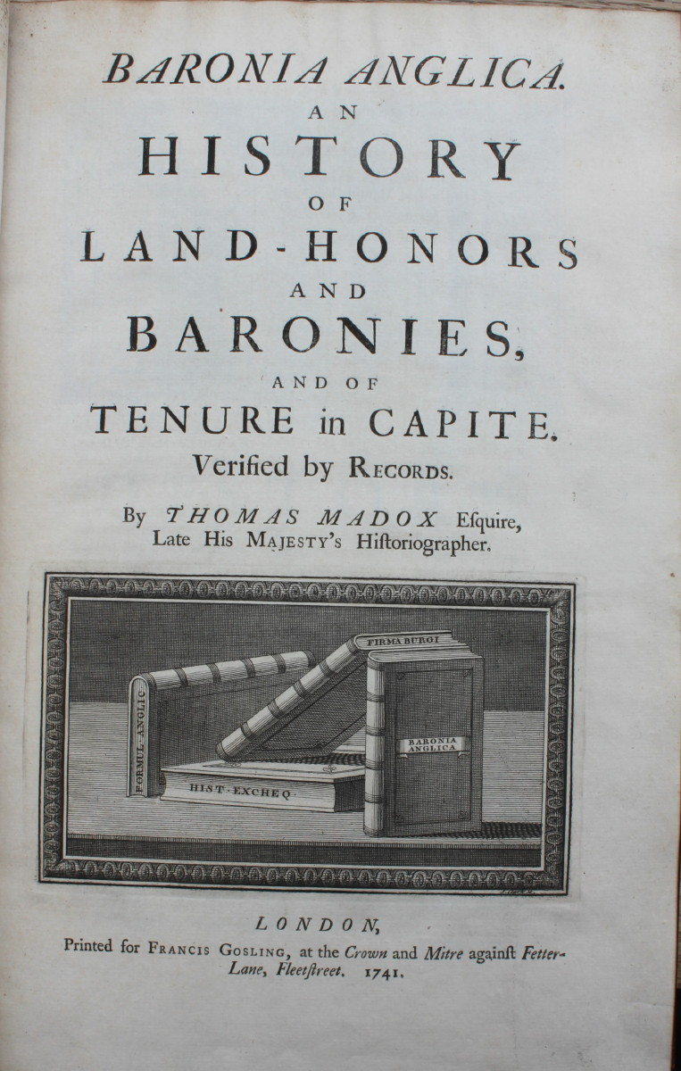 Image for Baronia Anglica. An History of the Land-Honors and Baronies, and of the Tenure in Capite. Verified by Records.