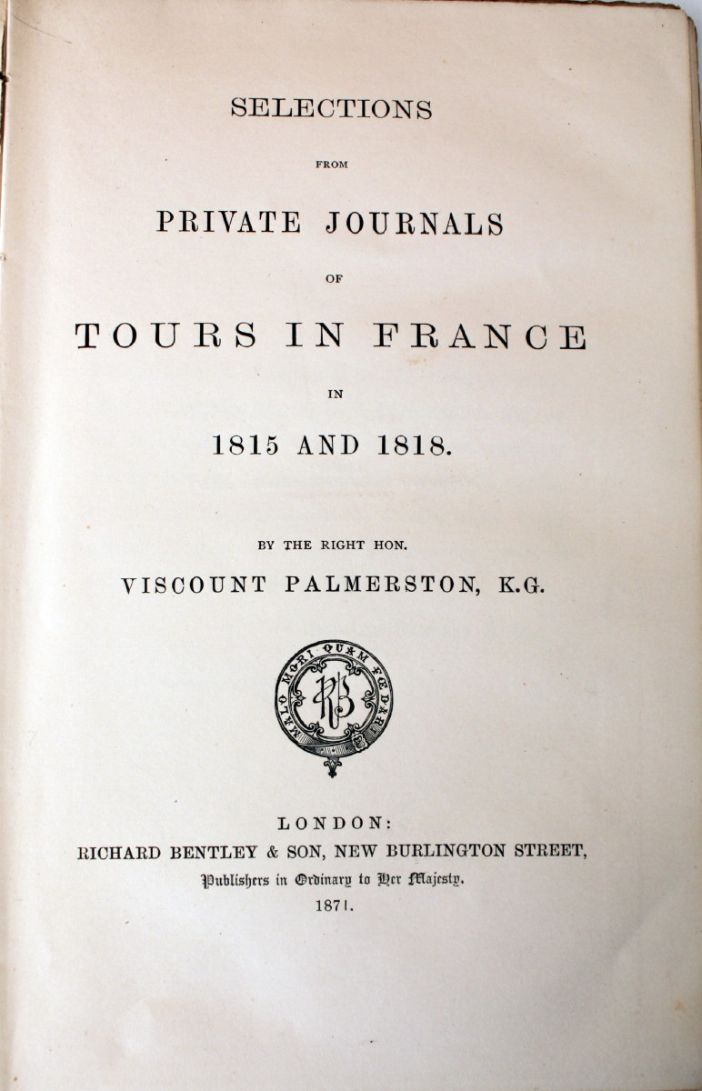 Image for Selections from Private Journals of Tours in France in 1815 and 1818.
