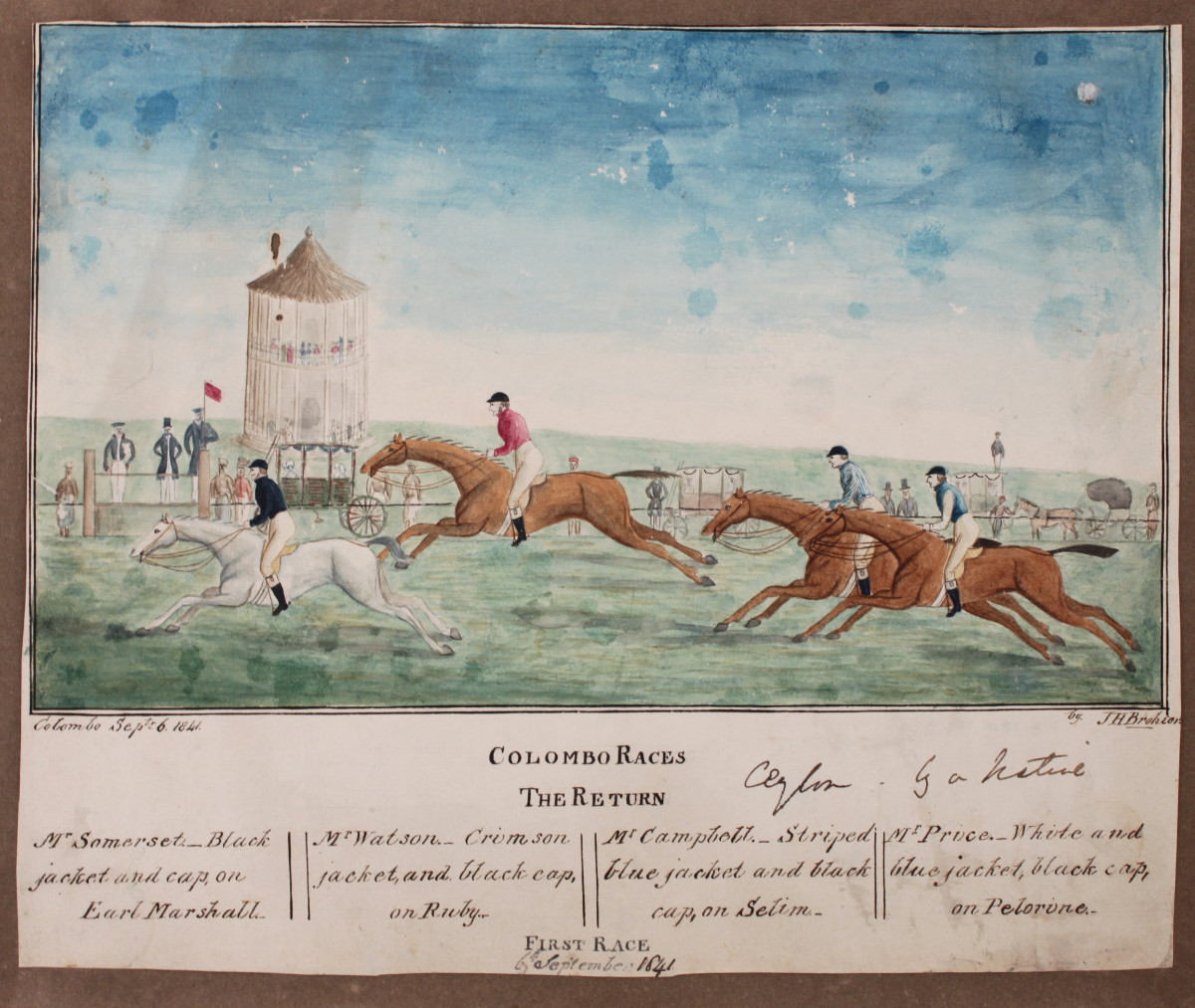 Image for Columbo Races; The Return, First Race. [Ceylon, by a Native]