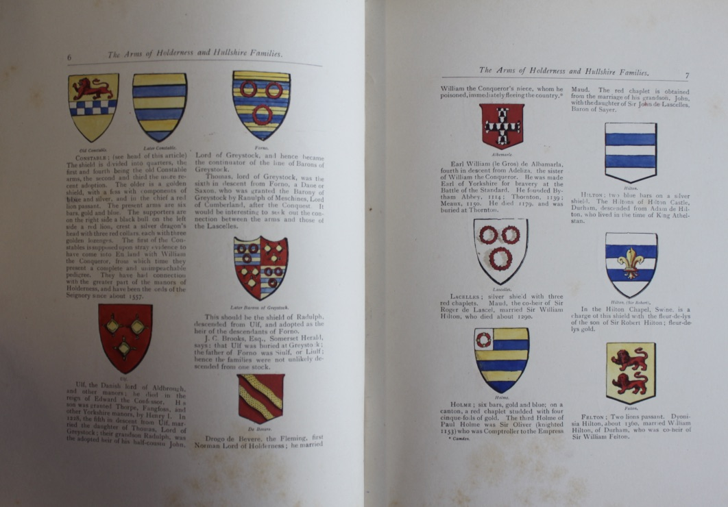 Image for Some Armorial Bearings (Emblazoned) of Families Connected With the Town and County of Kingston upon Hull and the Seigniory of Holderness; with brief descriptions of the shields, and historical notes.