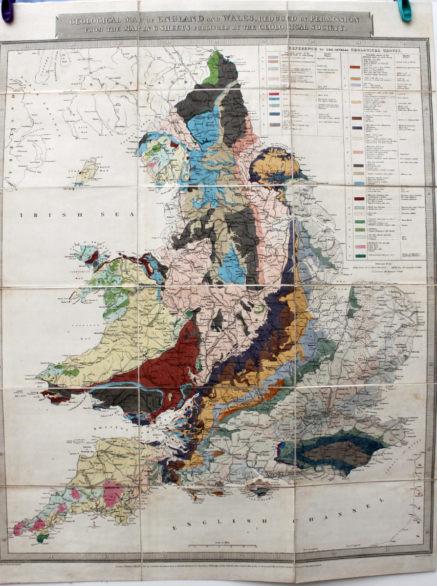 Image for Geological Map of England and Wales, Reduced by Permission From the Map in Six Sheets Published by the Geological Society.