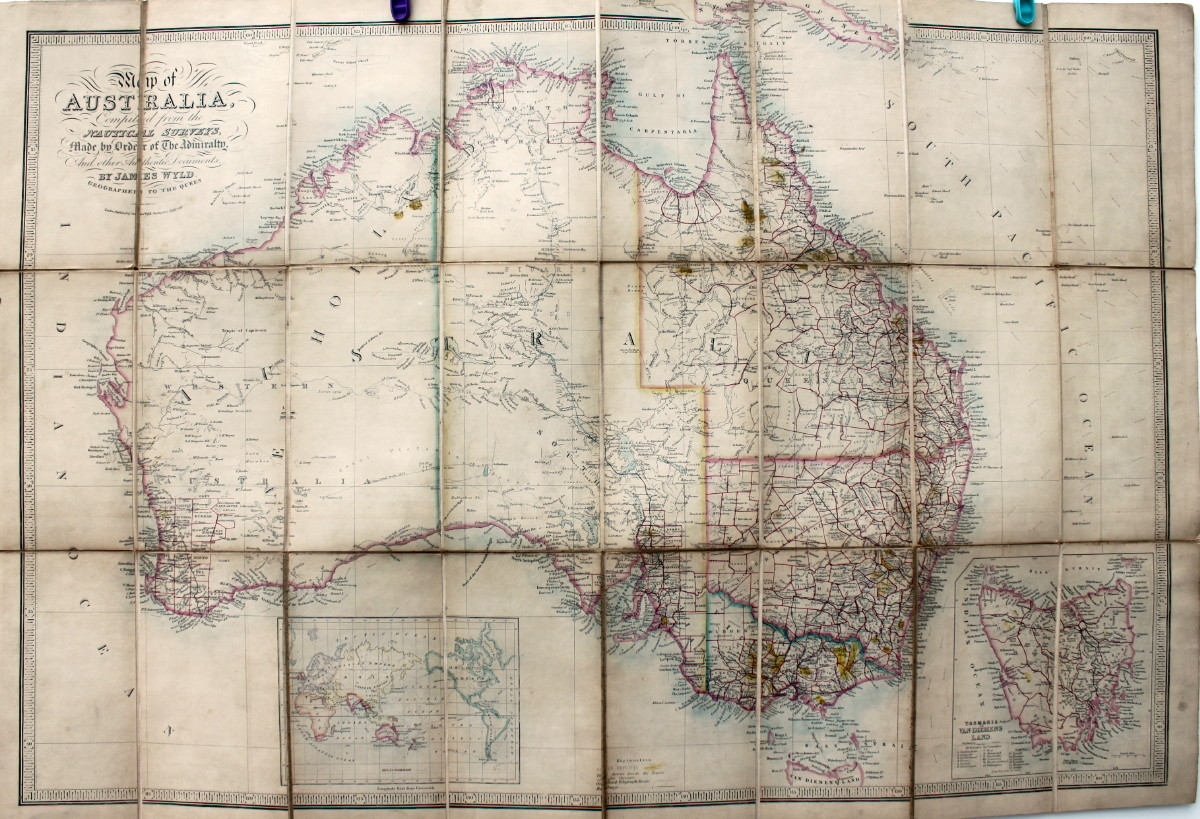 Image for Map of Australia, Compiled From the Nautical Surveys, Made by Order of the Admiralty and Other Authentic Documents.