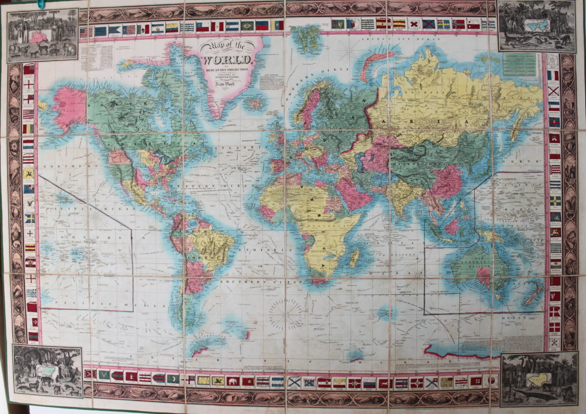 Image for Map of the World on Mercators Projection.