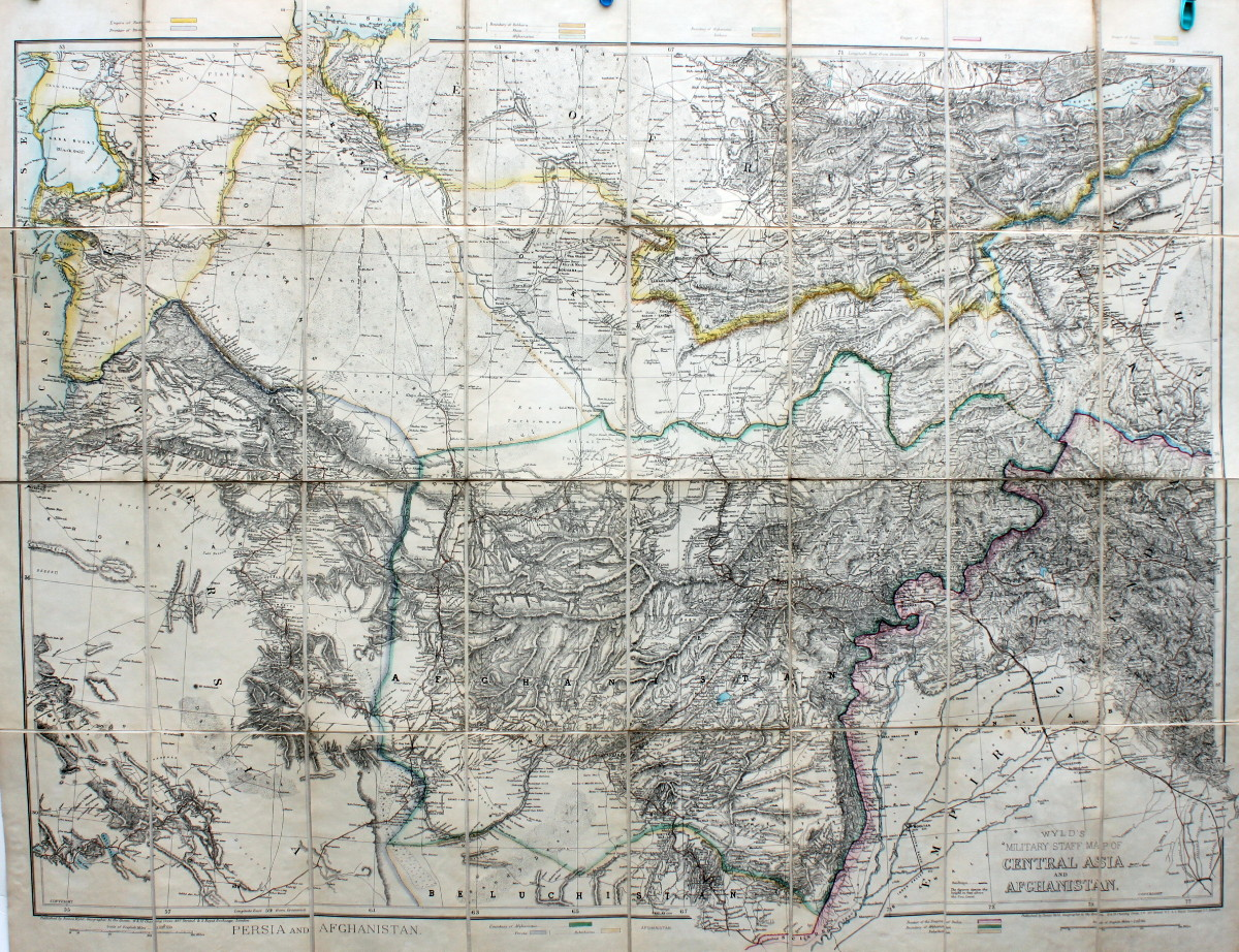 Image for Military Staff Map of Central Asia [Turkistan] and Afghanistan.