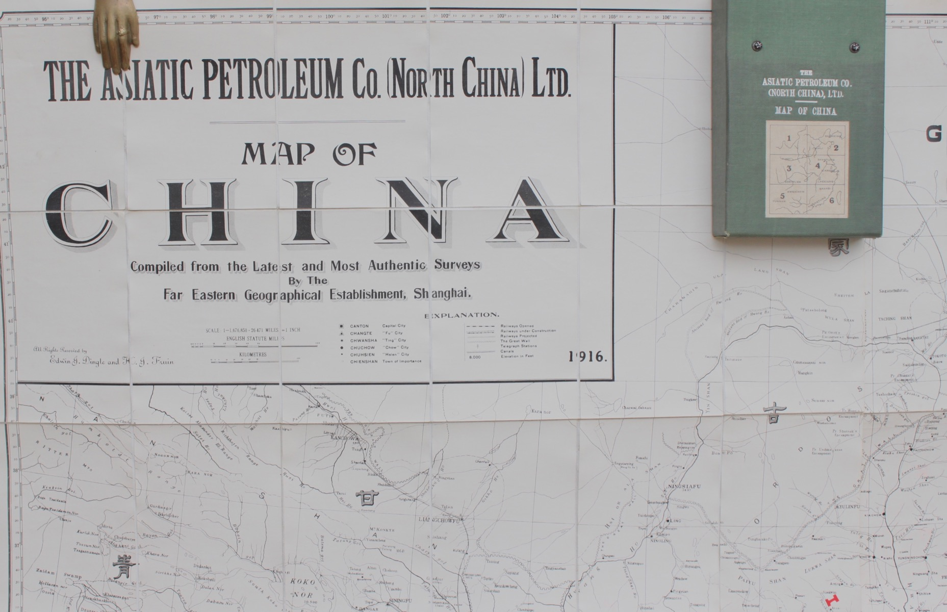 Image for The Asiatic Petroleum Co. (North China) Ltd. Map of China Compiled From the Latest and Most Authentic Surveys.