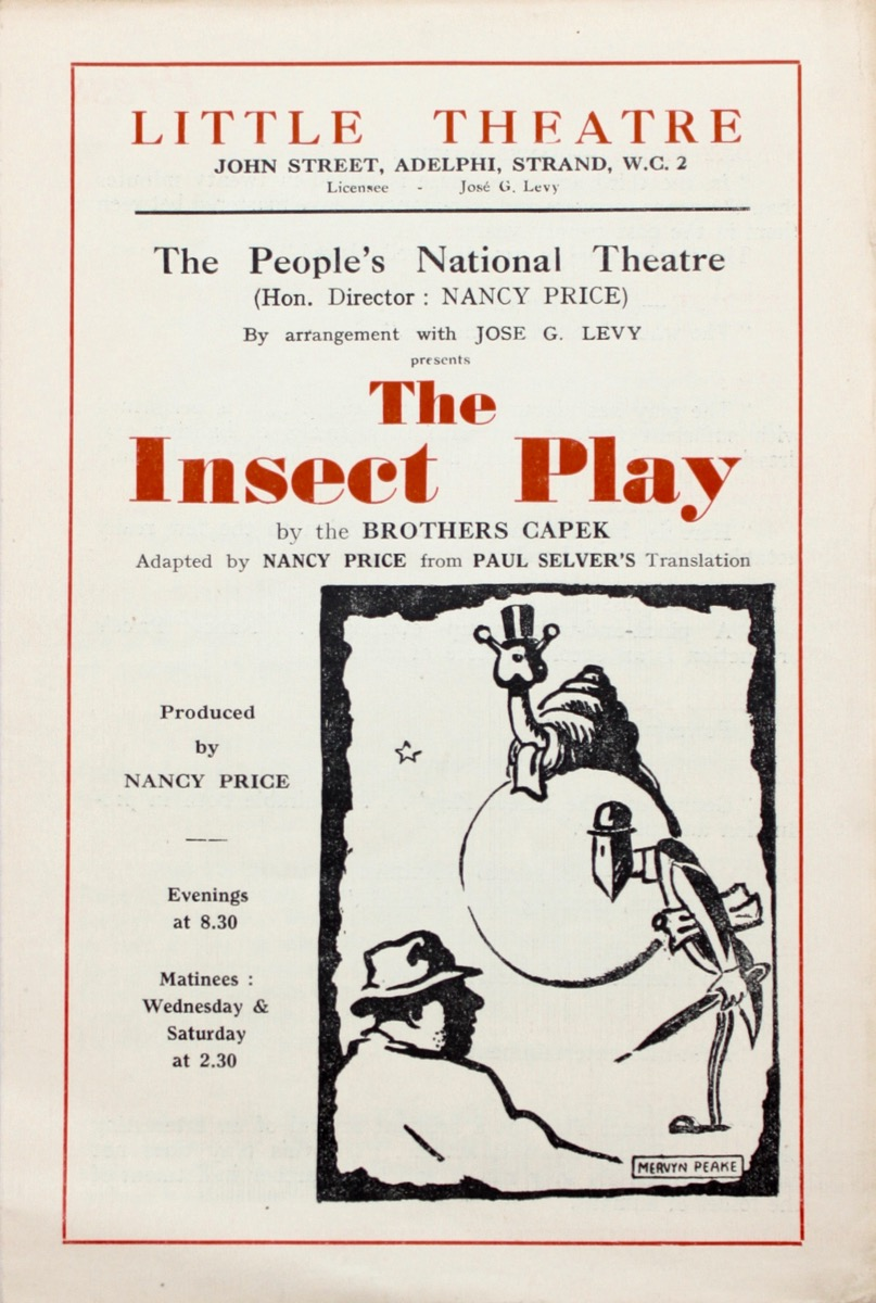 Image for Theatre Programme. The Insect Play, by the Brothers Capek.