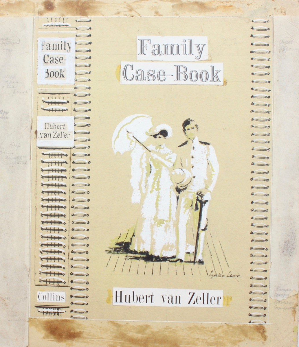 Image for Original Dust Wrapper Design for Hubert van Zeller's The Family Case-Book.