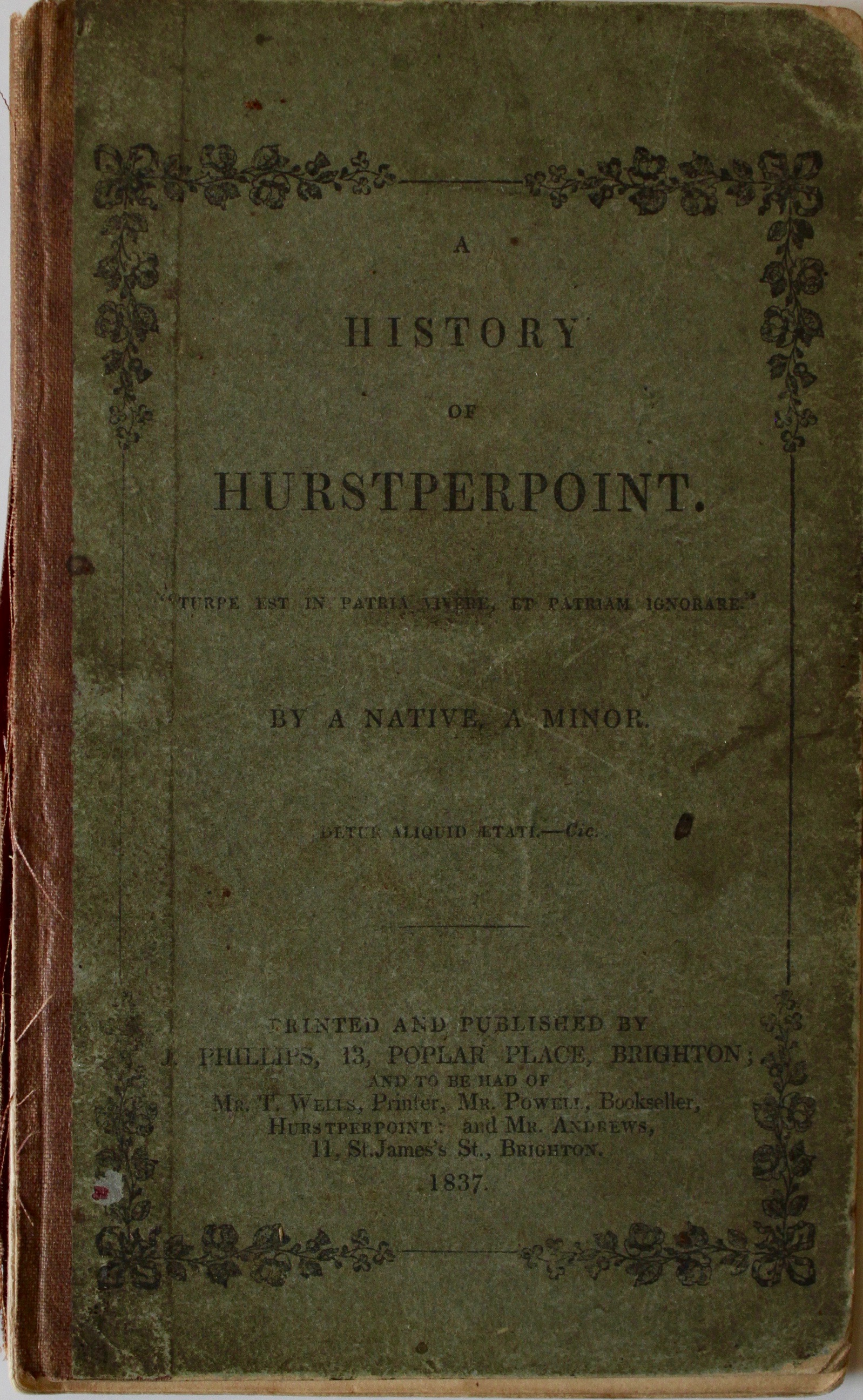 Image for A History of Hurstperpoint, by a Native, a Minor.