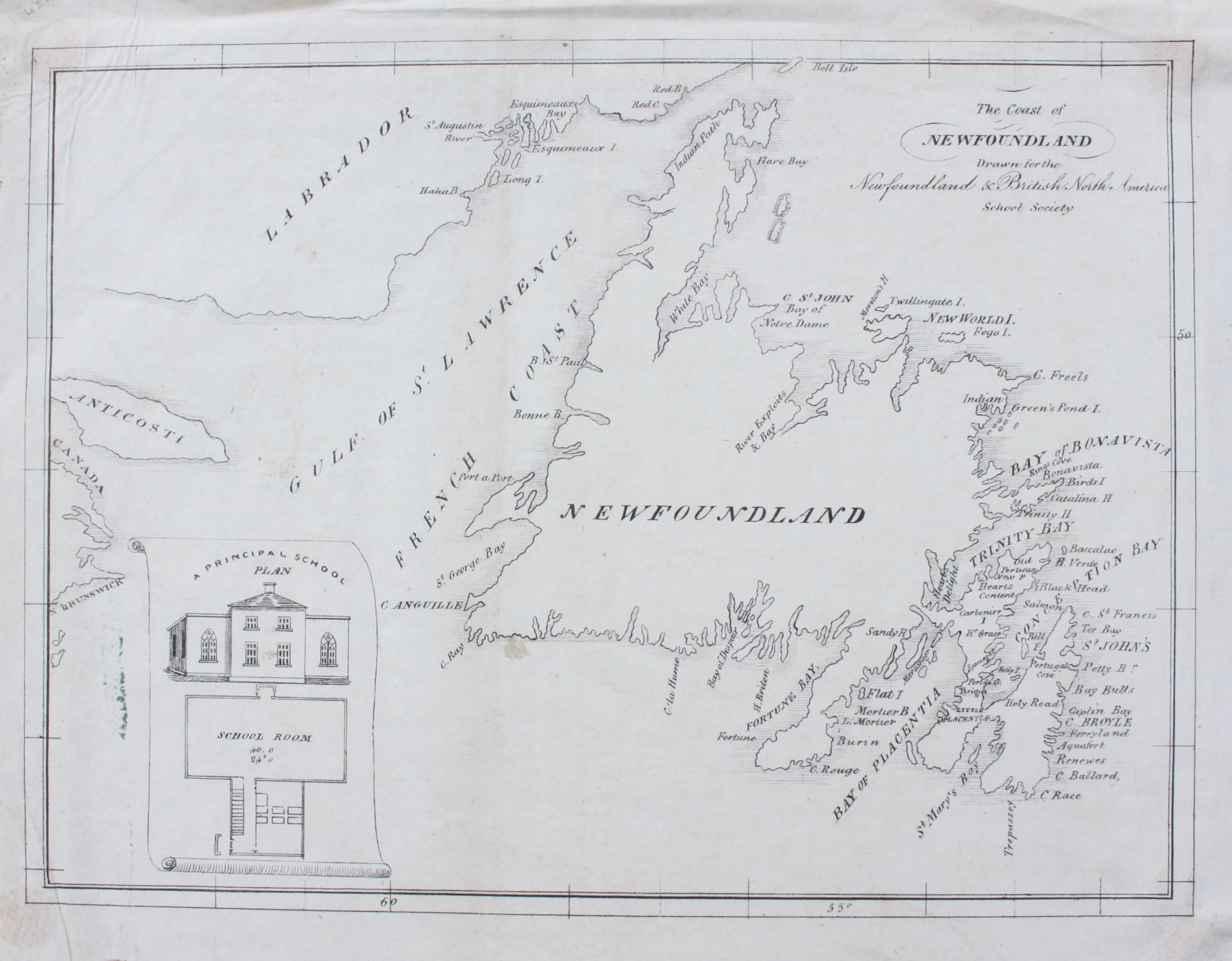 Image for The Coast of Newfoundland Drawn for the Newfoundland and British North America School Society.