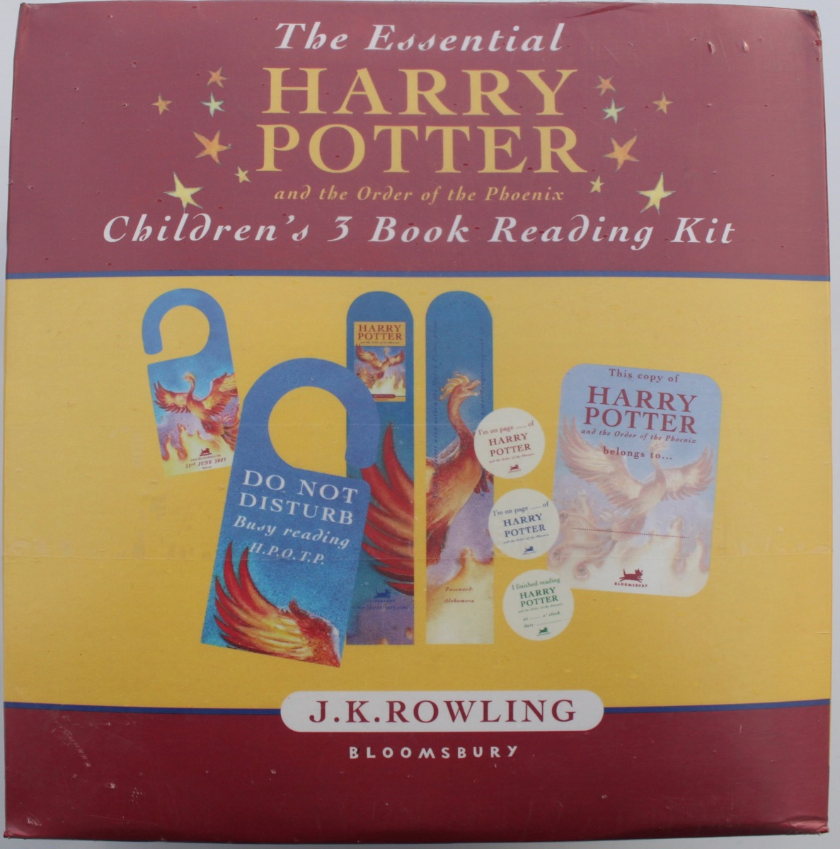 Image for The Essential Harry Potter and the Order of the Phoenix Children's 3 Book Reading Kit.