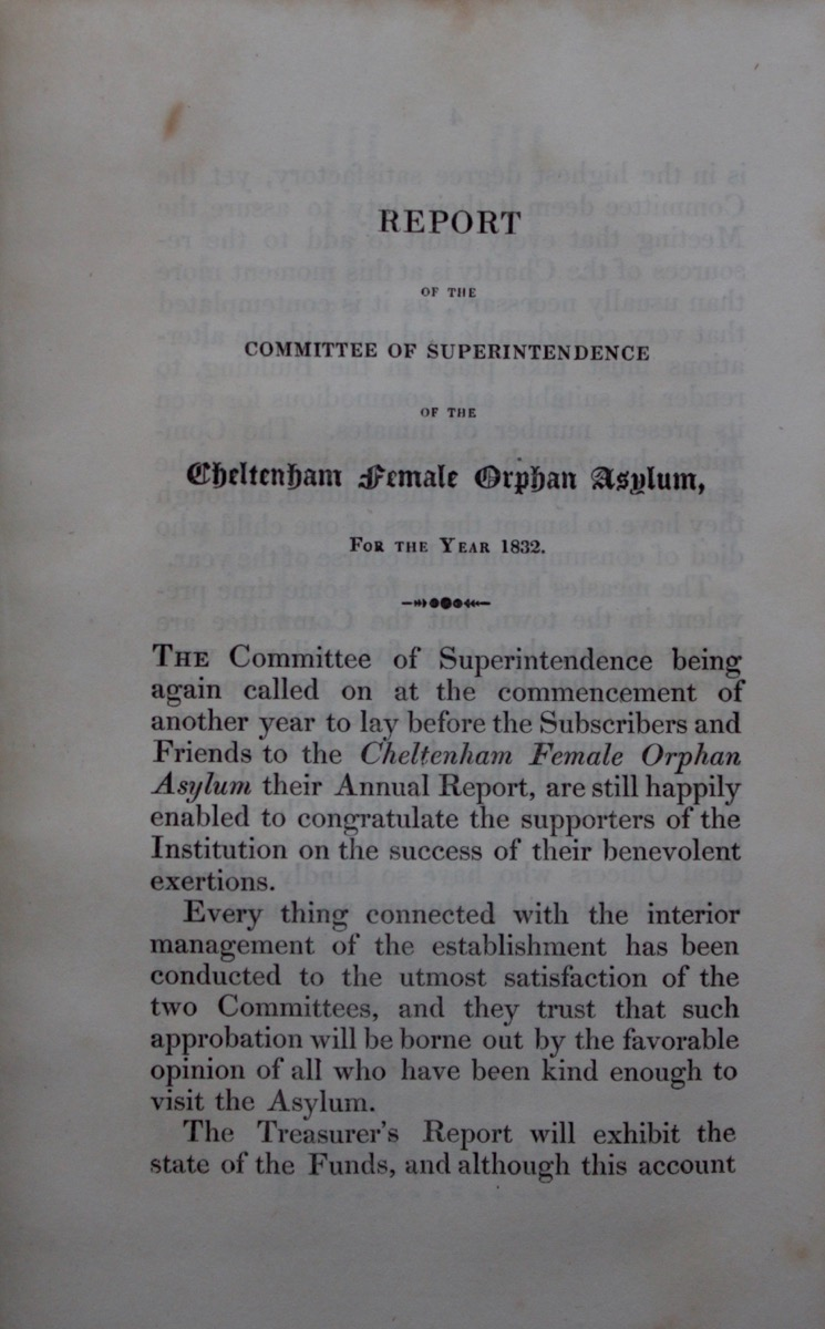 Image for Report of the Committee of Superintendence of the Cheltenham Female Orphan Asylum, for the Year 1832.