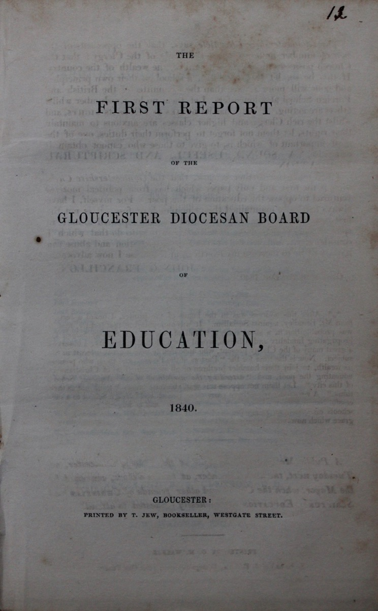 Image for The First Report of the Gloucester Diocesan Board of Education, 1840. [with] The Second Report of the Gloucester Diocesan Board of Education, 1841.
