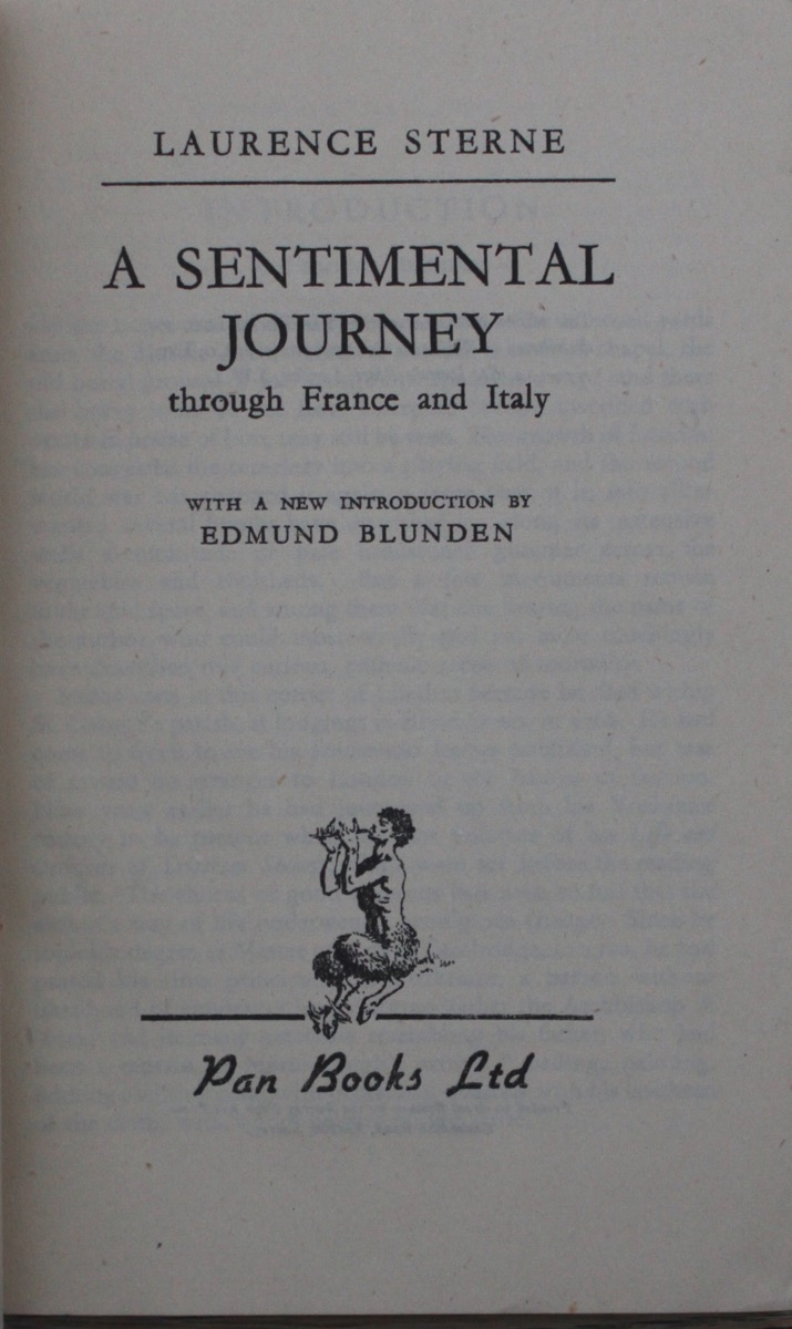 Image for A Sentimental Journey Through France and Italy, by Laurence Sterne.