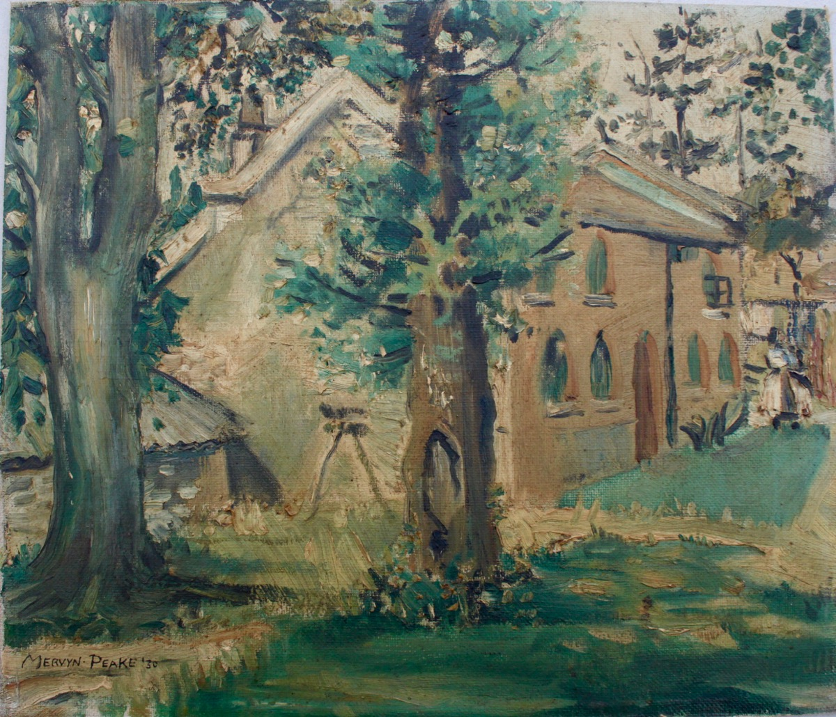 Image for House in the Country. [Probably Burpham, Sussex] Original oil painting.
