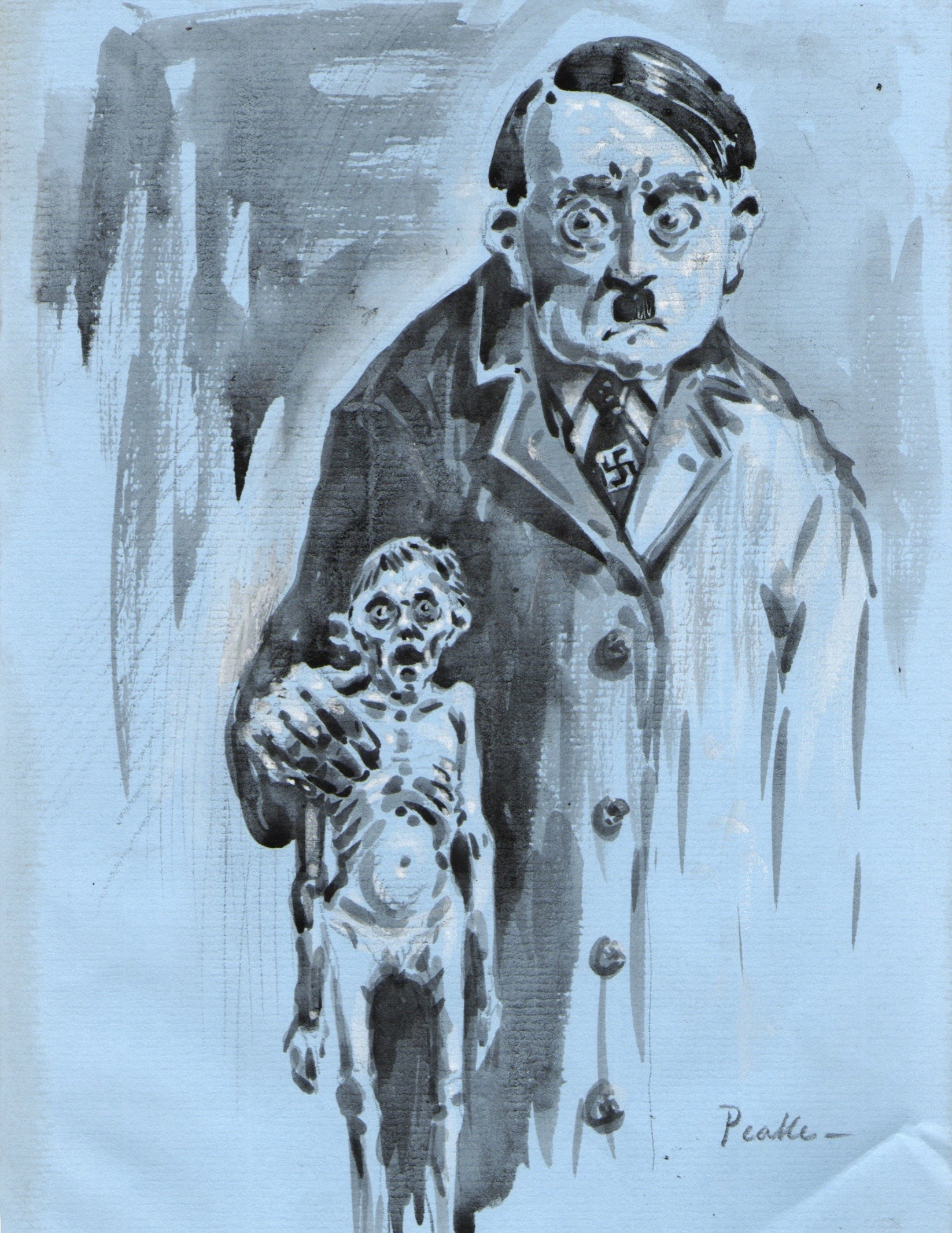 Image for Adolf Hitler 'Self Portrait: Father and Son.'