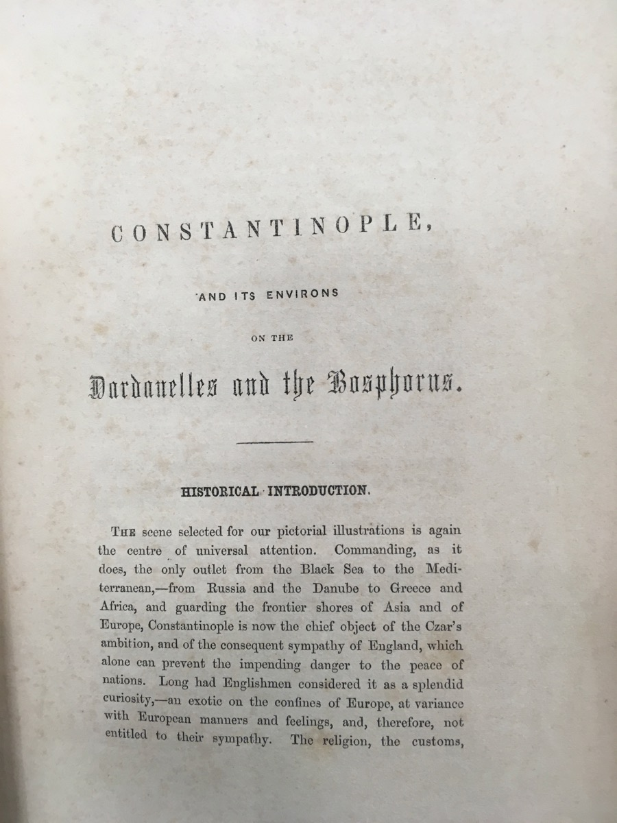 Image for Panorama of Constantinople, the Bosphorus and Dardanelles. A Description of Each Important Object, Preceded by an Historical Introduction.