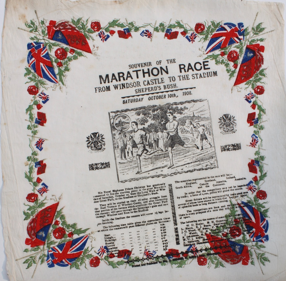 Image for Souvenir of the Marathon Race from Windsor Castle to the Stadium Sheperd's [sic] Bush. Saturday October 10th., 1908.