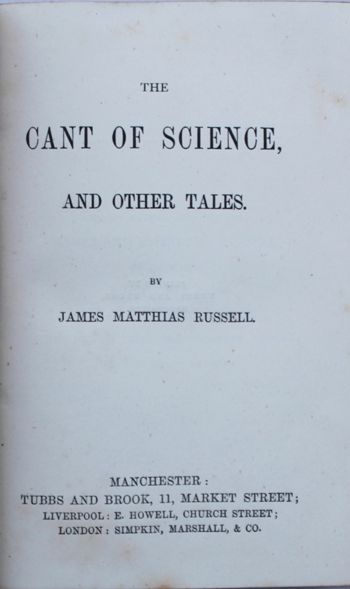 Image for The Cant of Science and Other Tales.