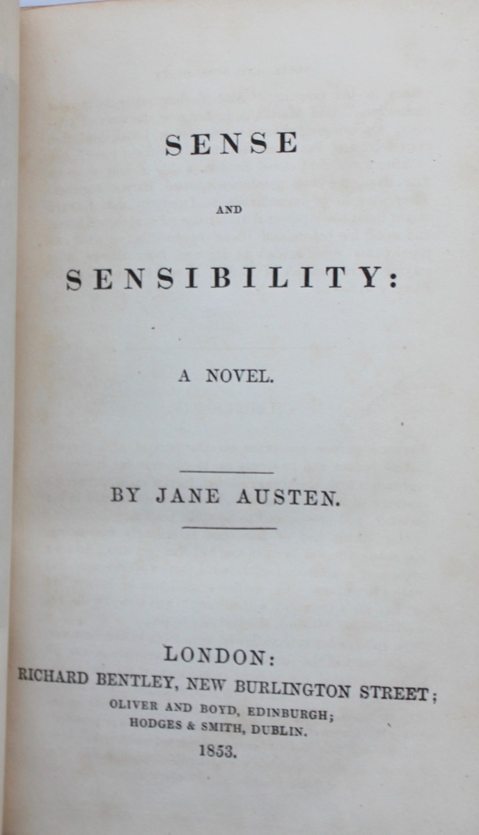 Image for Sense and Sensibility.