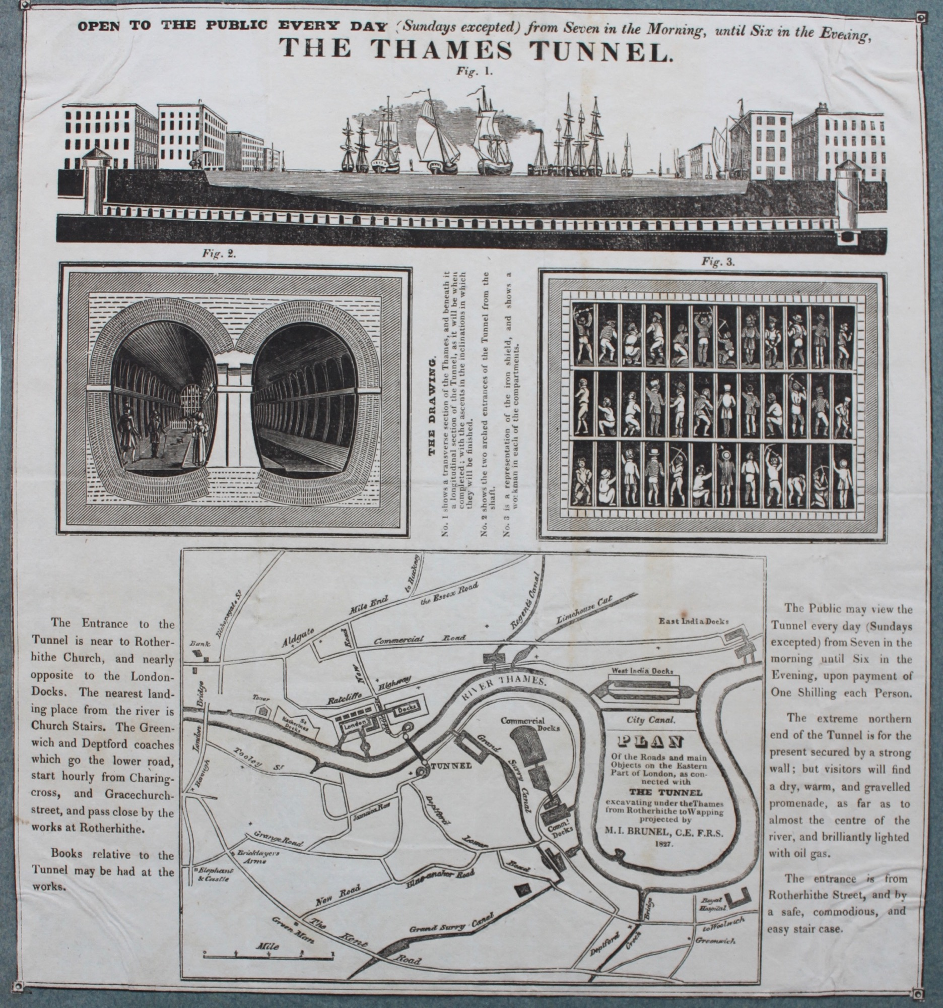 Image for Open to the Public Every Day (Sundays excepted) from seven in the morning until six in the evening. The Thames Tunnel.