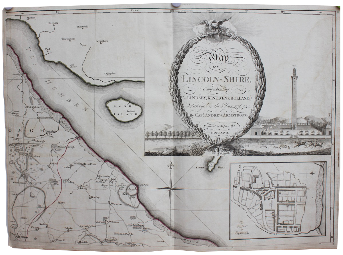 Image for A Map of Lincolnshire Comprehending Lindsay, Kesteven & Holland, surveyed in the years 1776, 7, 8.