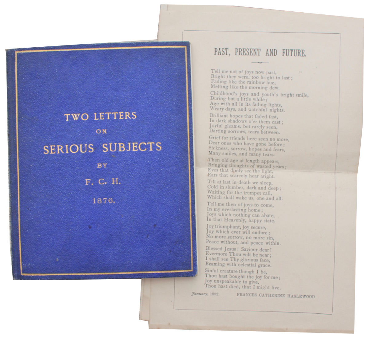 Image for Two Letters on Serious Subjects by F.C.H. [with] Past, Present and Future [a poem].