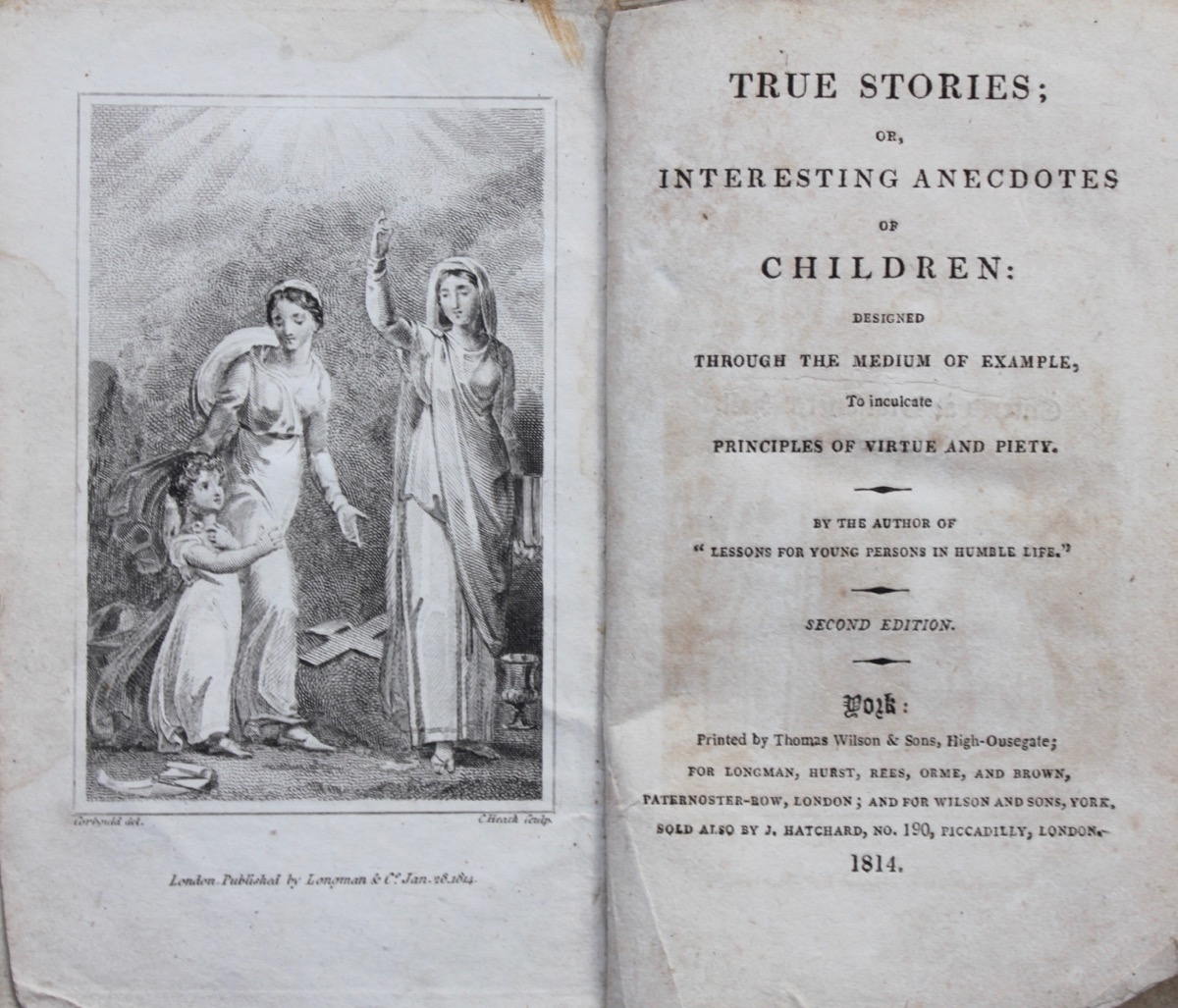 Image for True Stories; or, Interesting Anecdotes of Children: designed through the medium of example, to inculcate principles of virtue and piety.