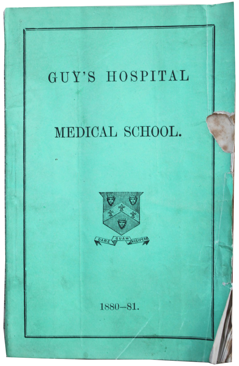 Image for Guy's Hospital Medical School [Yearbook 1880-81].