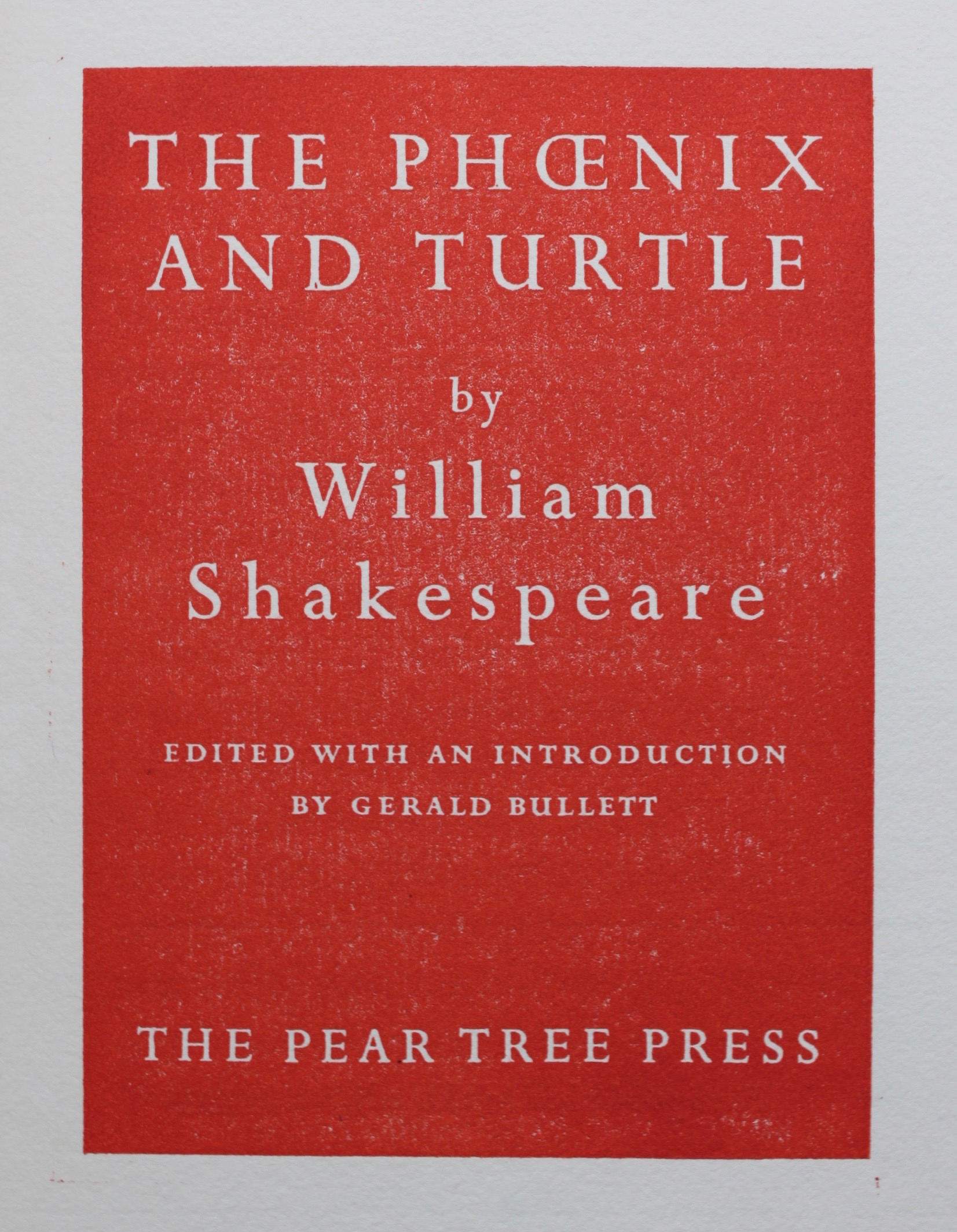 Image for The Phoenix and the Turtle by William Shakespeare.