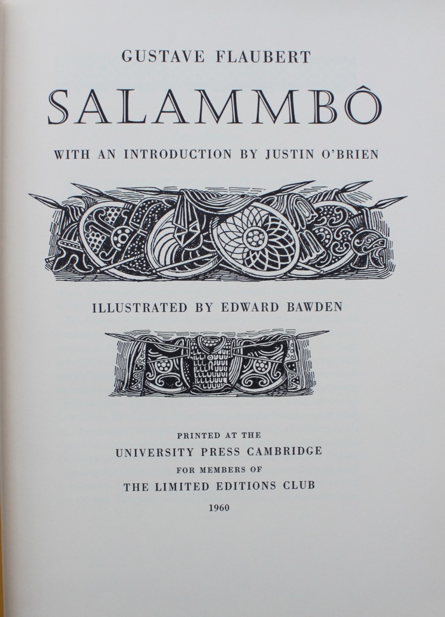 Image for Salammbo, by Gustave Flaubert, with an introduction by Justin O'Brien.