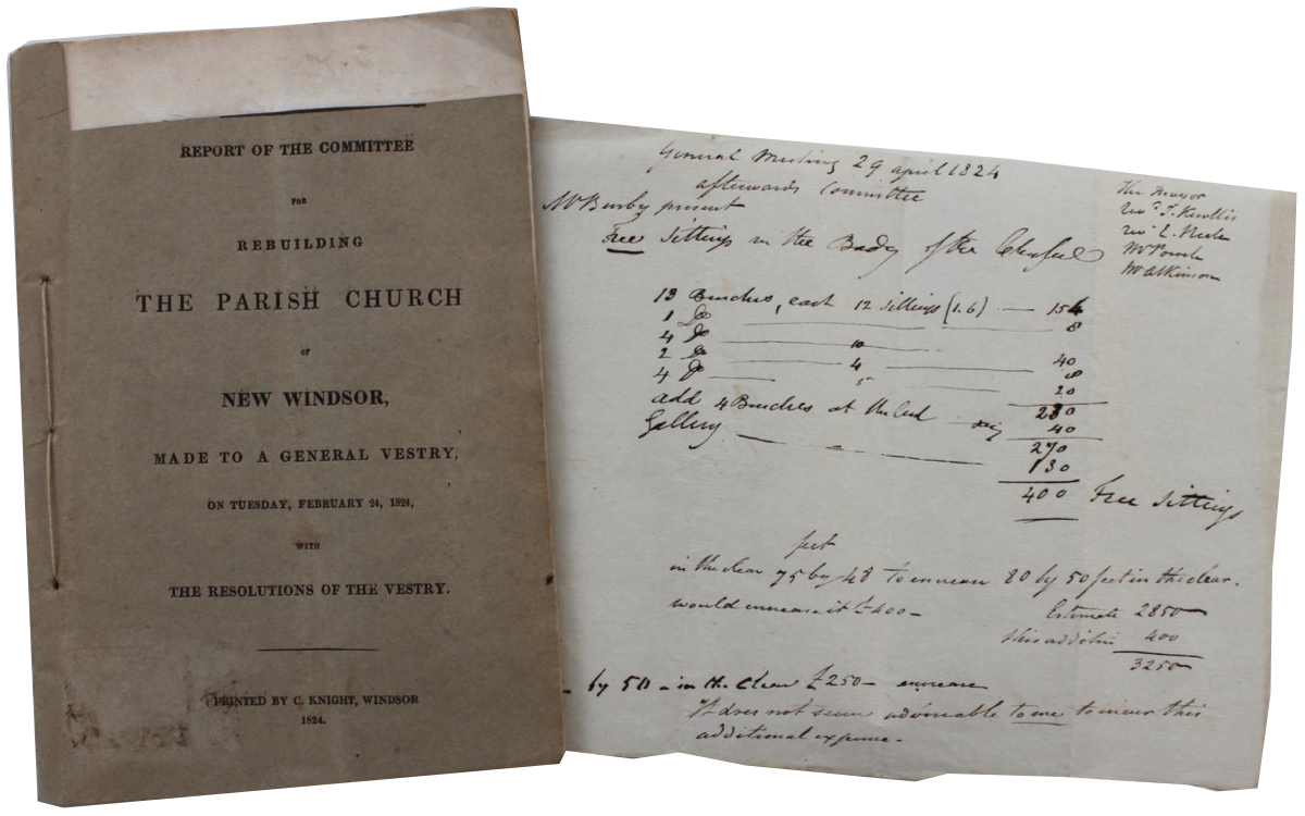 Image for Report of the Committee for Rebuilding the Parish Church of New Windsor Made to a General Vestry, on Tuesday, February 24, 1824, with resolutions of the Vestry.